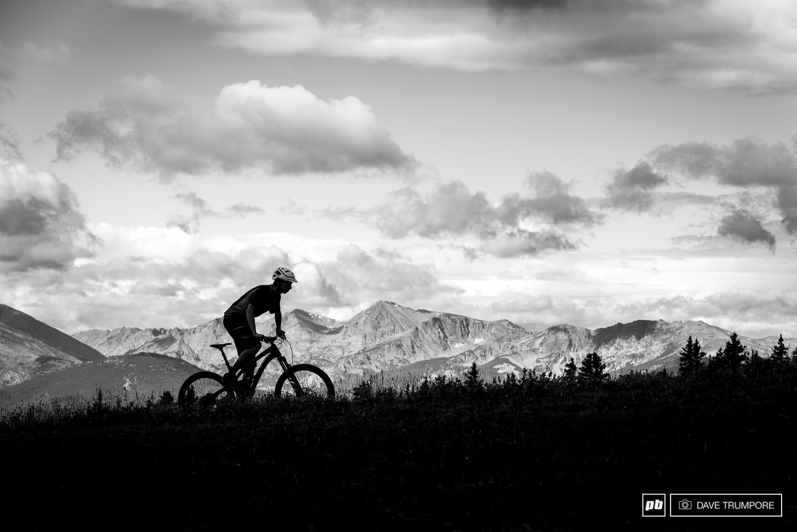 Ben Conroy enjoys the view from Vail Pass. A quick traverse from camp quickly lead to the real goods hiding in the woods just below.