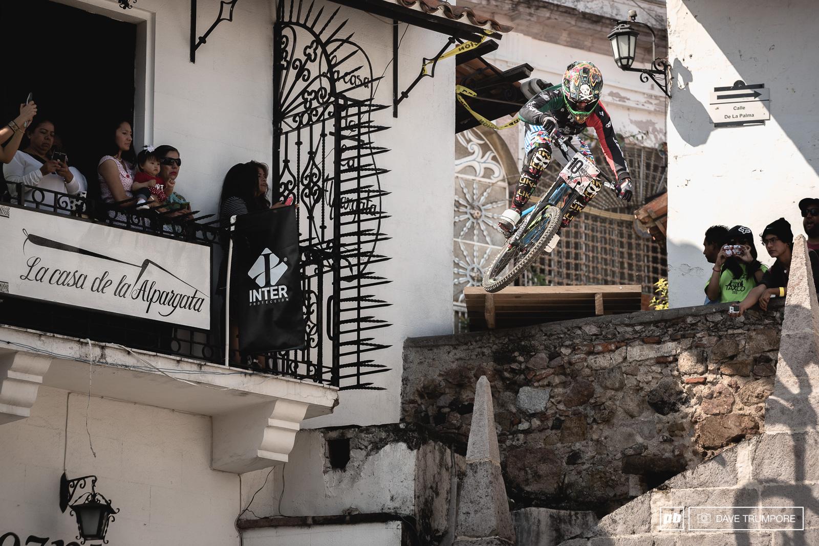 Top Mexican rider and local legend Ricardo Preciado in 8th.