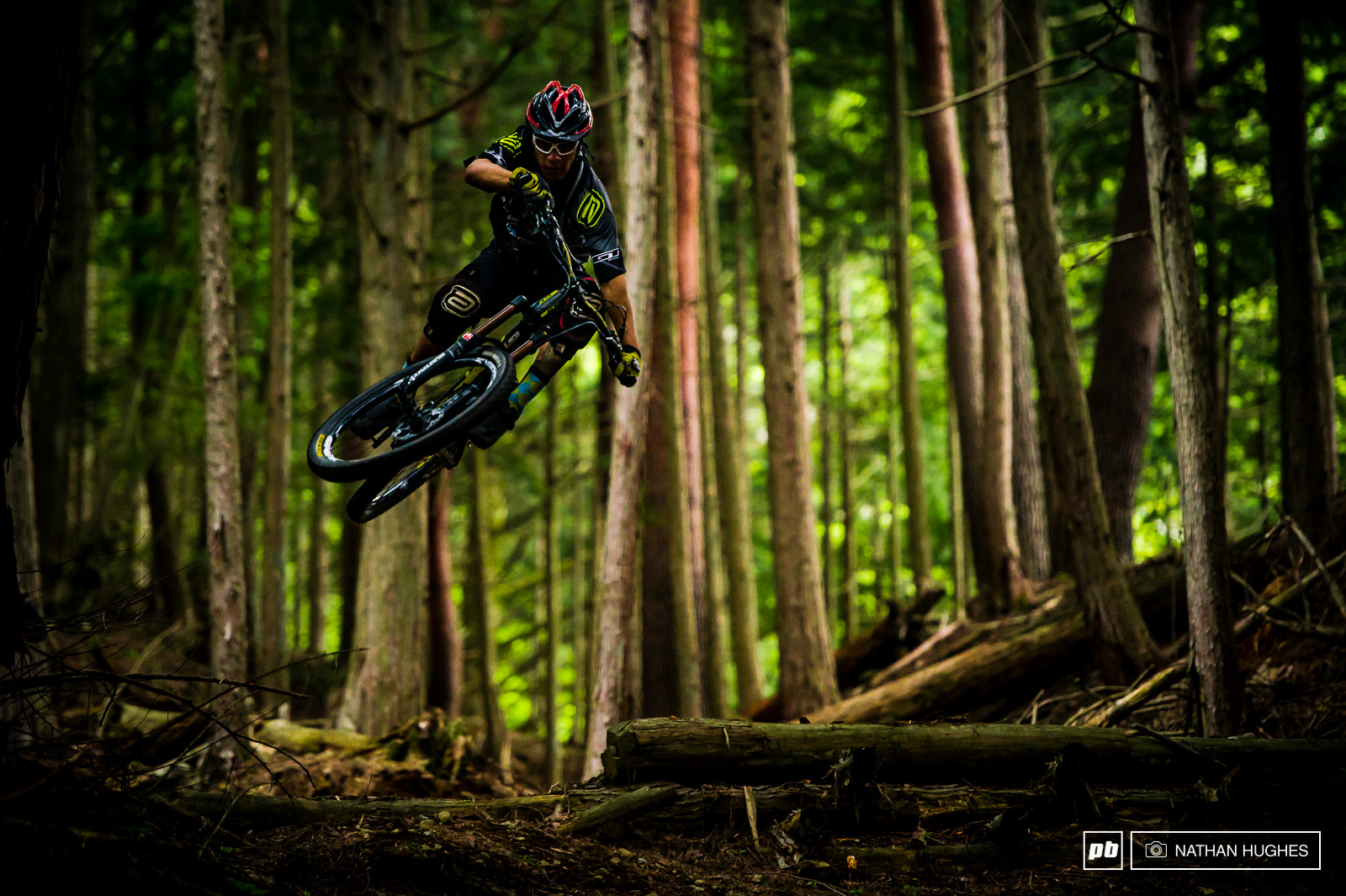 Bernado will find a gap where no one else would want to look. Enduro bike 30ft hip transfer deep in the forest.