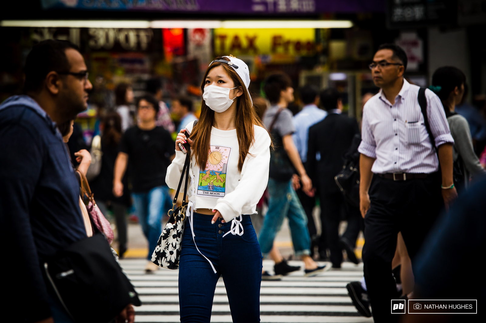 Face masks are the norm in Japan worn for hygiene as well as pollution.