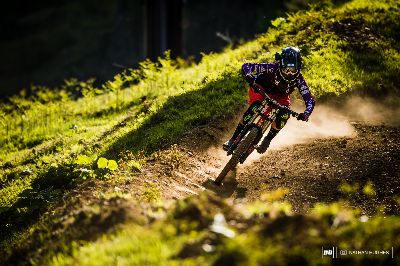 Steffi shreds the golden hour off last lifts at Fujimi Panorma Bike Park.