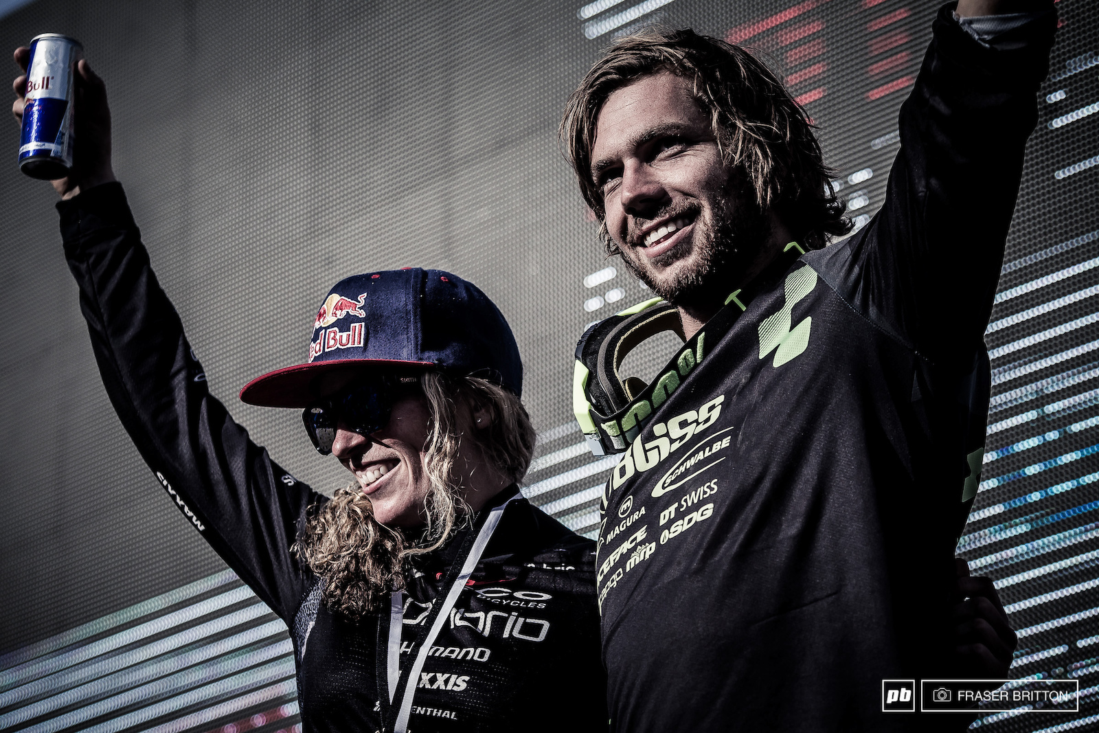 Your current King and Queen of crankworx Points leaders. Kill Kintner USA and Matt Walker NZL .