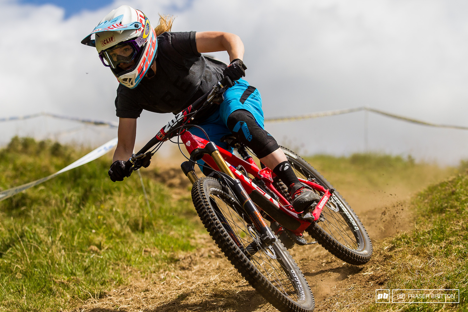 Casey Brown is the toughest chick on the downhill circuit bar none. She cased the pond jump in practice and took her downhill bike out of commission. She decided to sack up and race the downhill on her little bike to a 3rd place finish.
