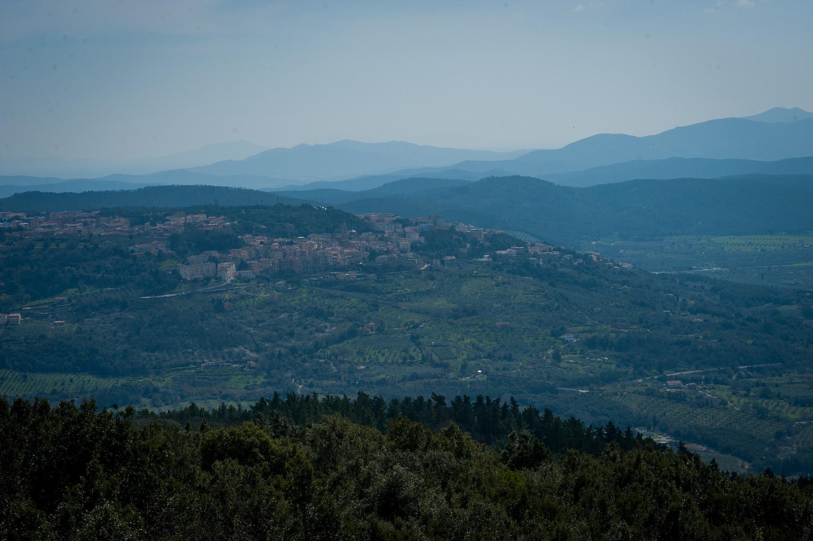 Stunning greenery and rolling hills surrounding Massa Marittima.
