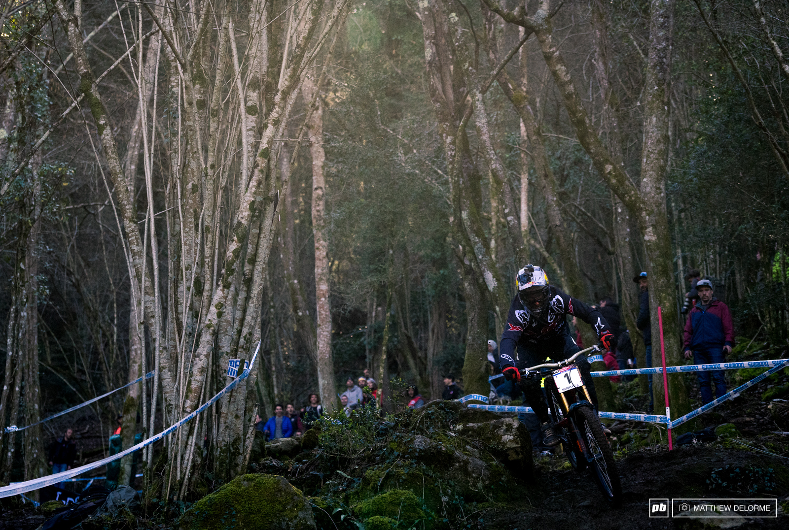 Aaron Gwin kept it upright on the ever-changing track to take the win today. Gwin conceded that it will be an interesting season between he and Loic considering the Frenchman was very close to edging him out today.