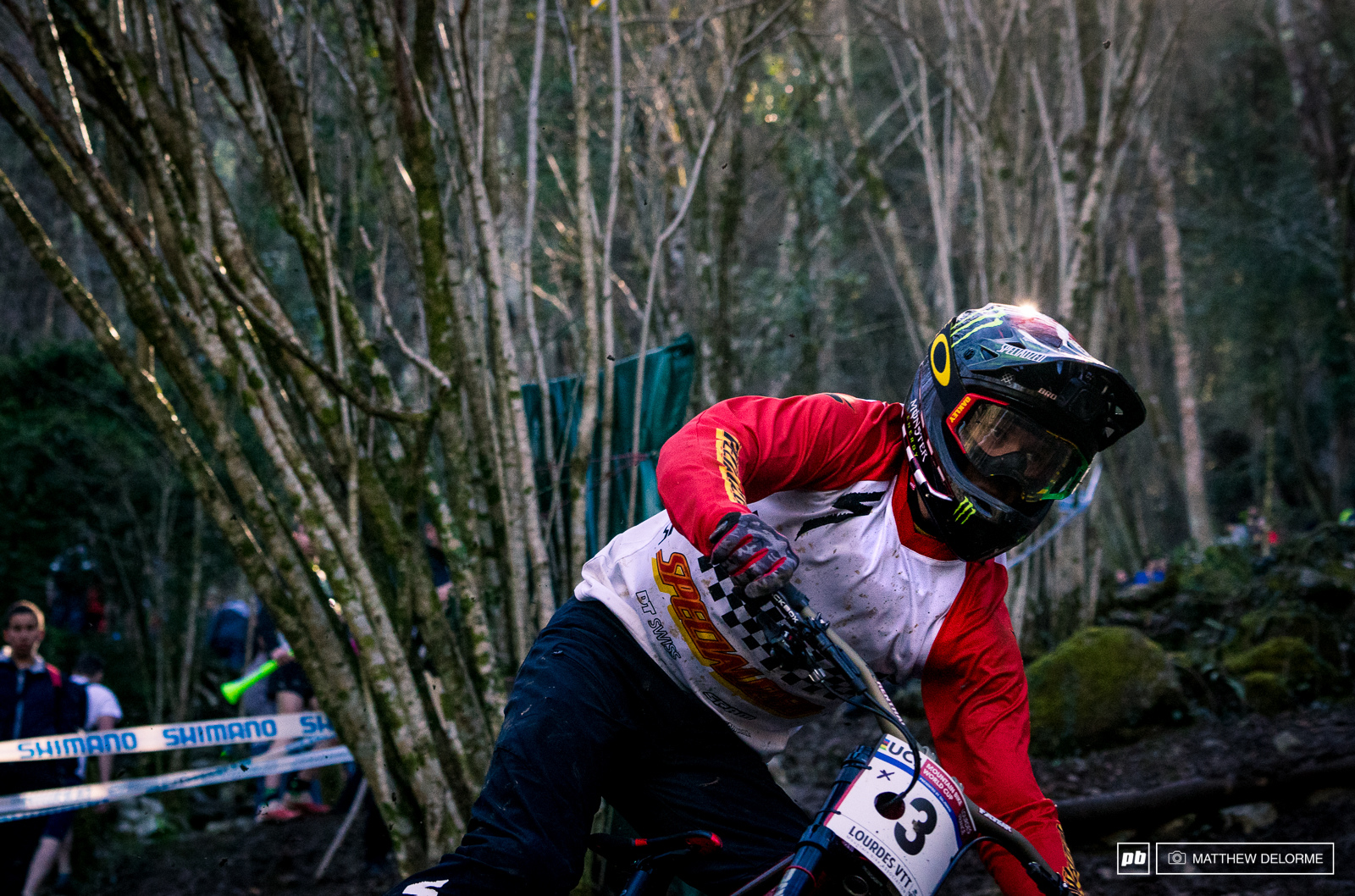 Troy Brosnan s ability to let his bike float over terrain took him straight to fourth place.