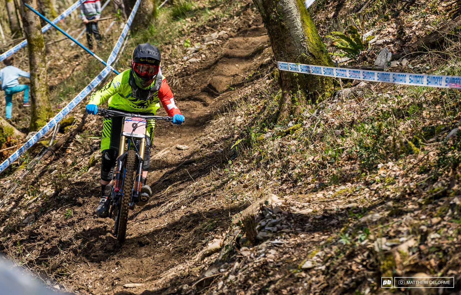 Emilie Siegenthaler had a solid ride to fifth place today.