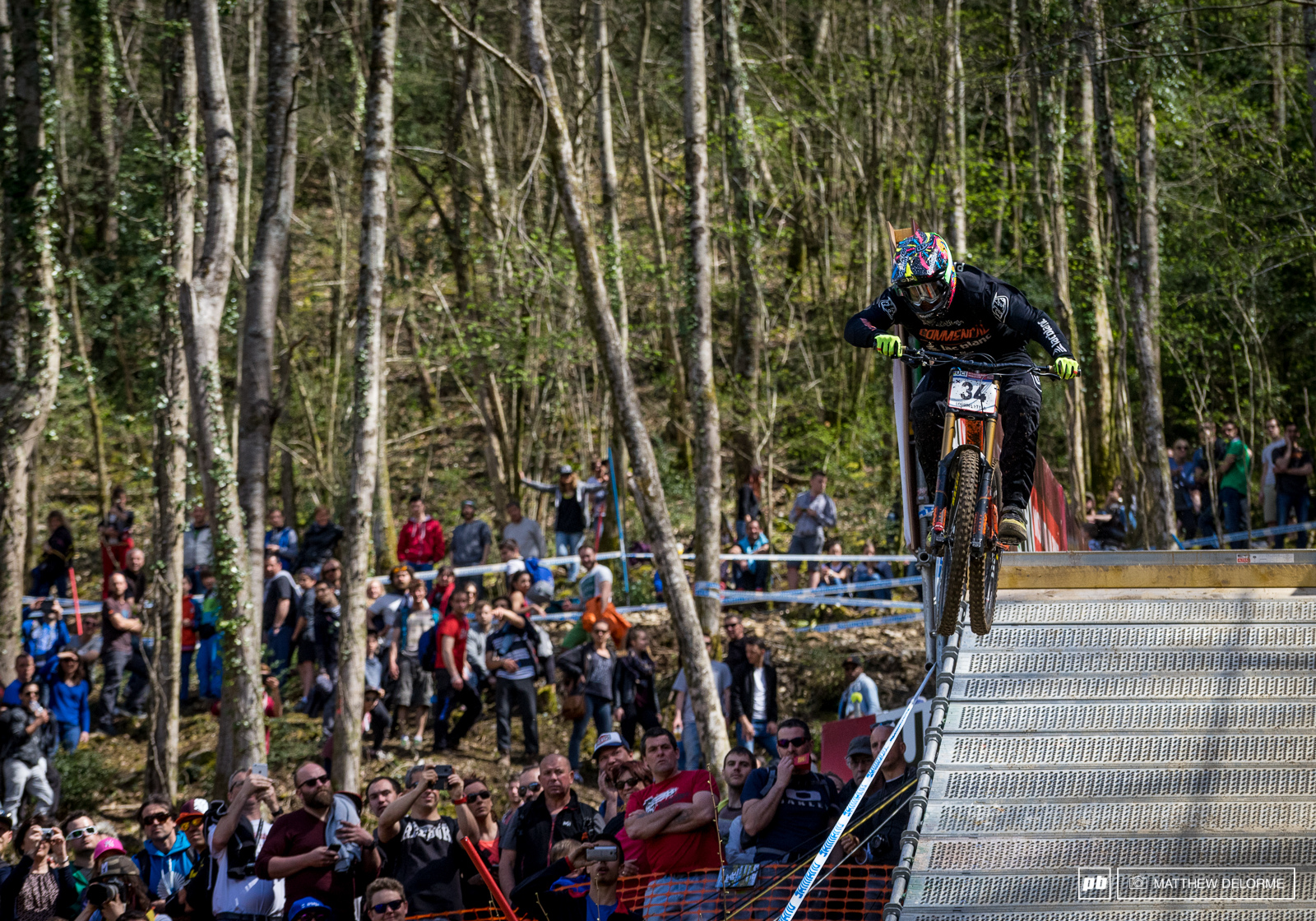 Amaury Pierron was one of many French that shook up the field today. Pierron came across the line in fifth place.