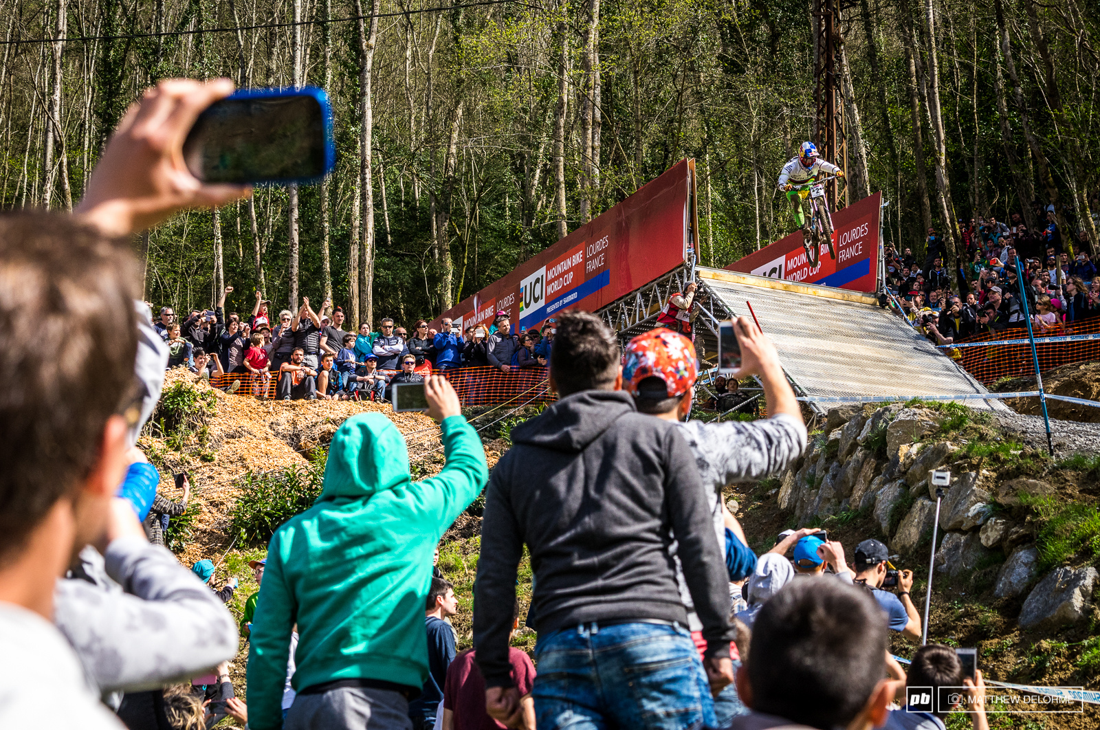 All phones and eyes were trained on Loic Bruni as he came across the line to a hero s welcome. In the end it just wasn t his day.