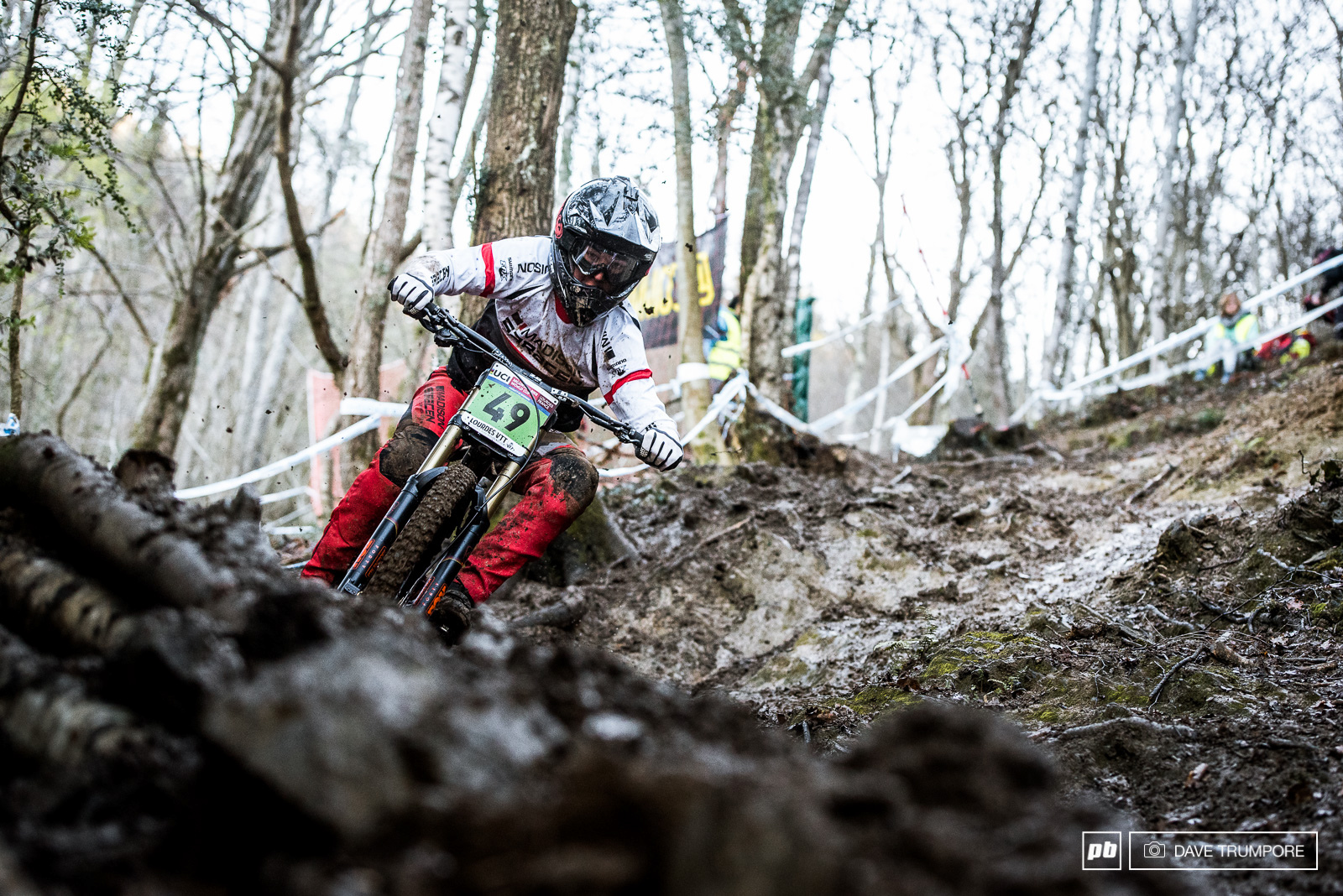 Matt Walker was flying through the mud and would take 2nd in the Junior Men s race.