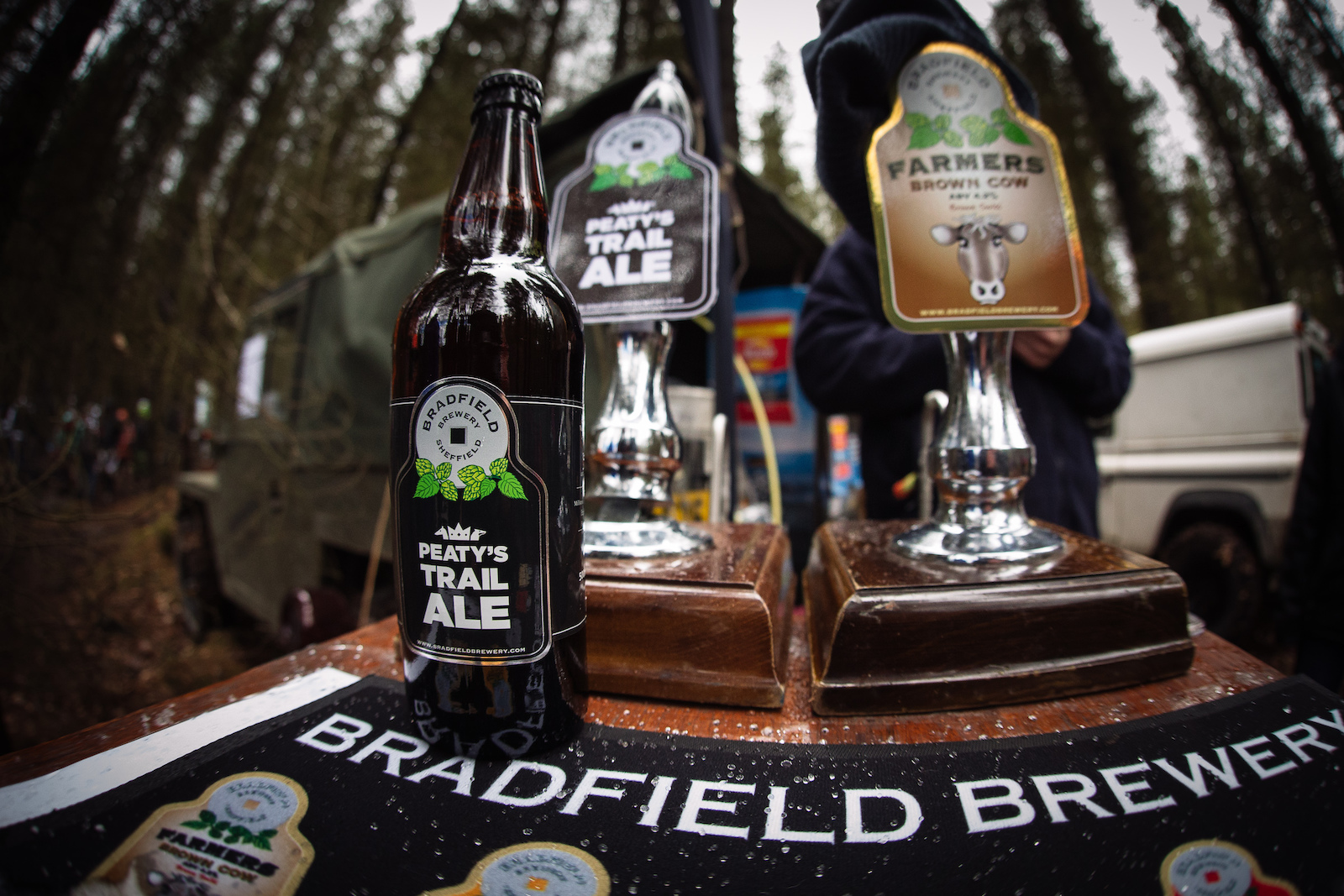 Bradfield Brewery were on site as usual to provide beverages to spectators as well as prizes to those on the podium. Better than champagne