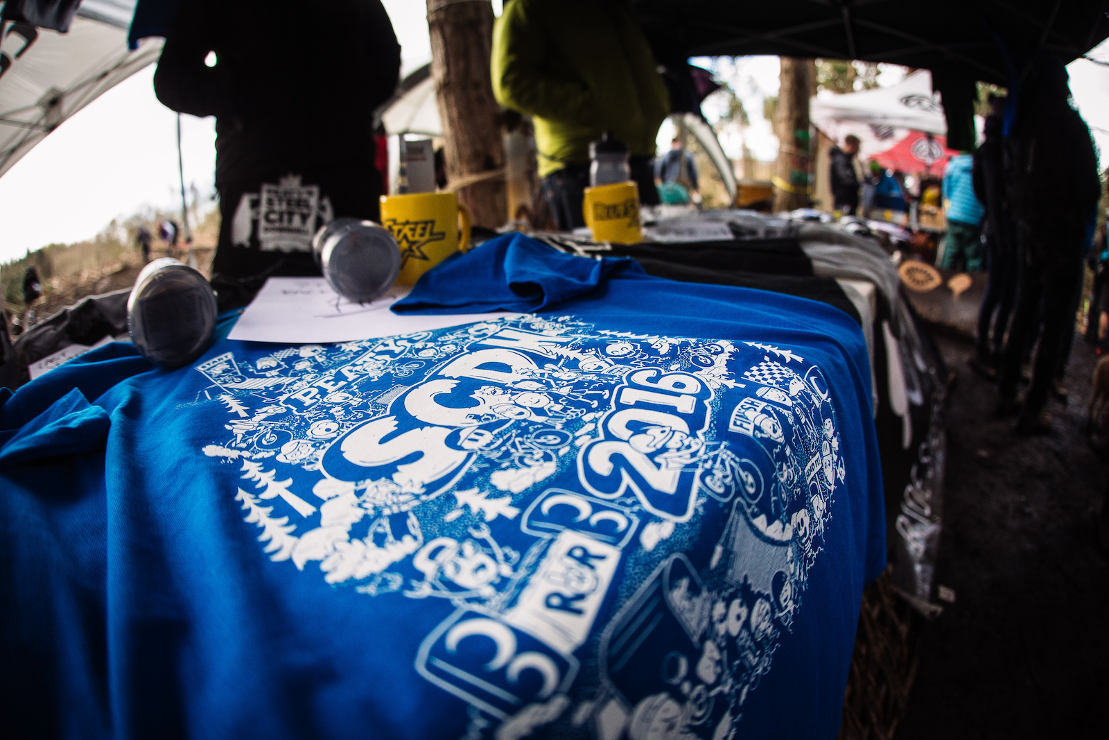 Steel City DH t-shirts were available to buy in blue blue or blue from the Ride Sheffield stall in the finish area. The awesome design is by Sheffield based company TADO. Last years design proved so appealing one racer had it tattooed on his leg