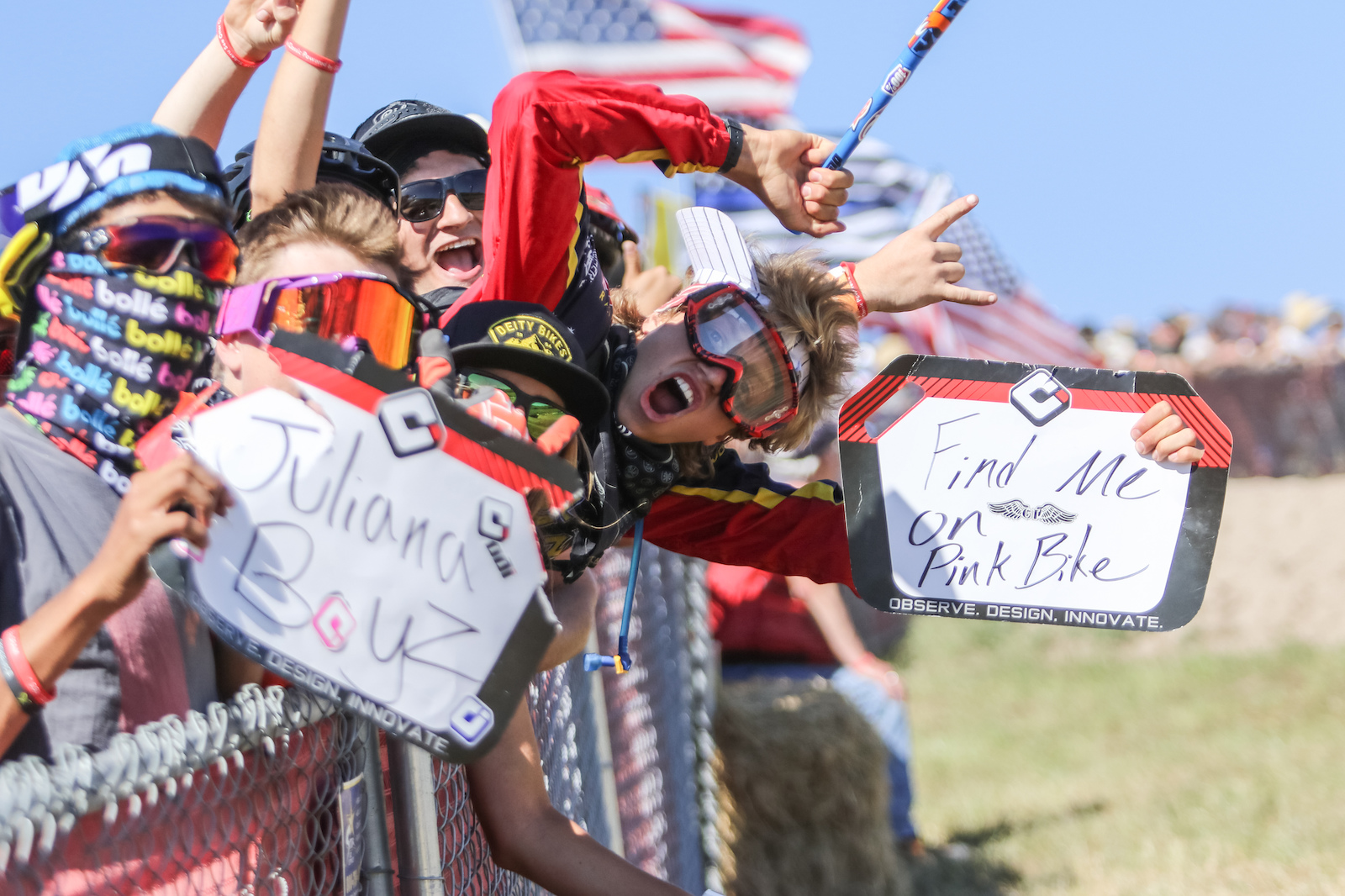 The crowd at the Sea Otter Classic is always packed full of Pinkbike fans.