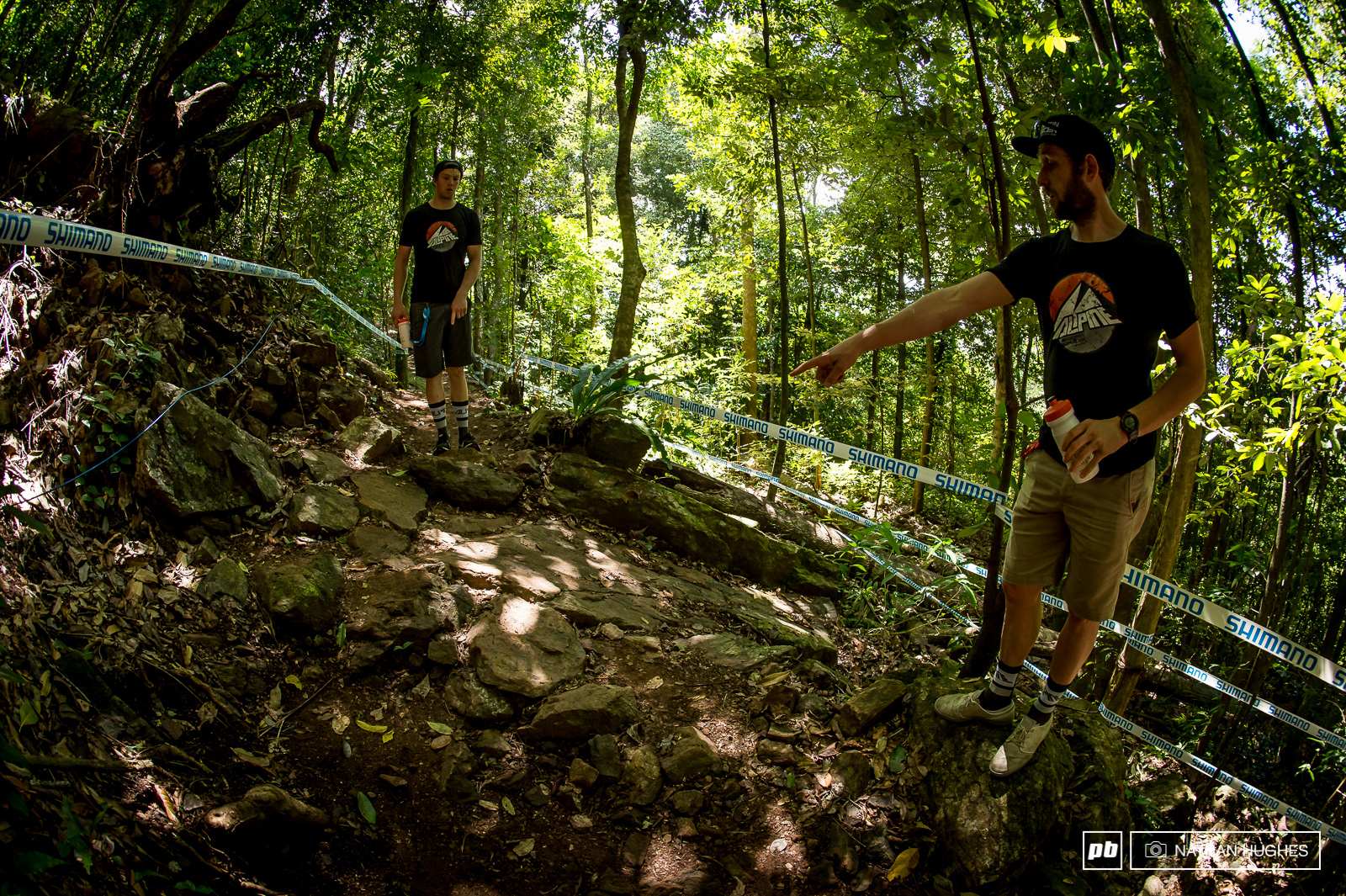 Simmonds and Beaumont consider how on the rock gap could be up top.