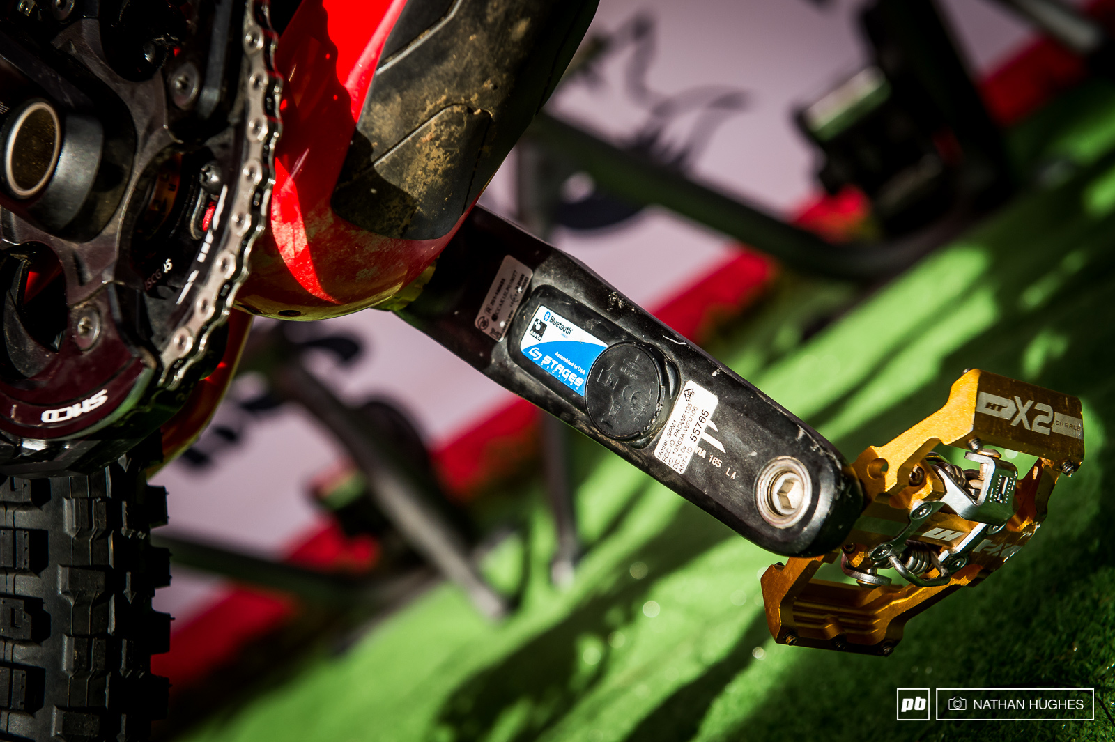 Rachel Atherton and Taylor Vernon are both using the Stages power metre to keep check of their output on track at a venue where you ll need to spin it to win it. The pedals that is.