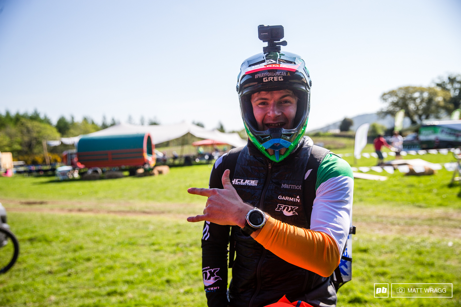With national championships starting to emerge for enduro that means lucky racers now get to wear their national sleeve. Greg Callaghan is more than a little bit proud to be representing the Parish as the locals refer to it.