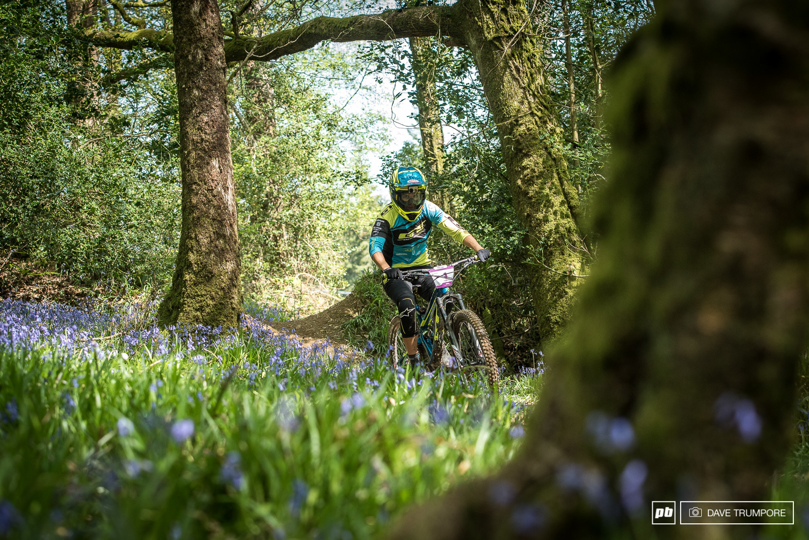 Anika Beerten catches her breath through the Blue Bells on stage four.