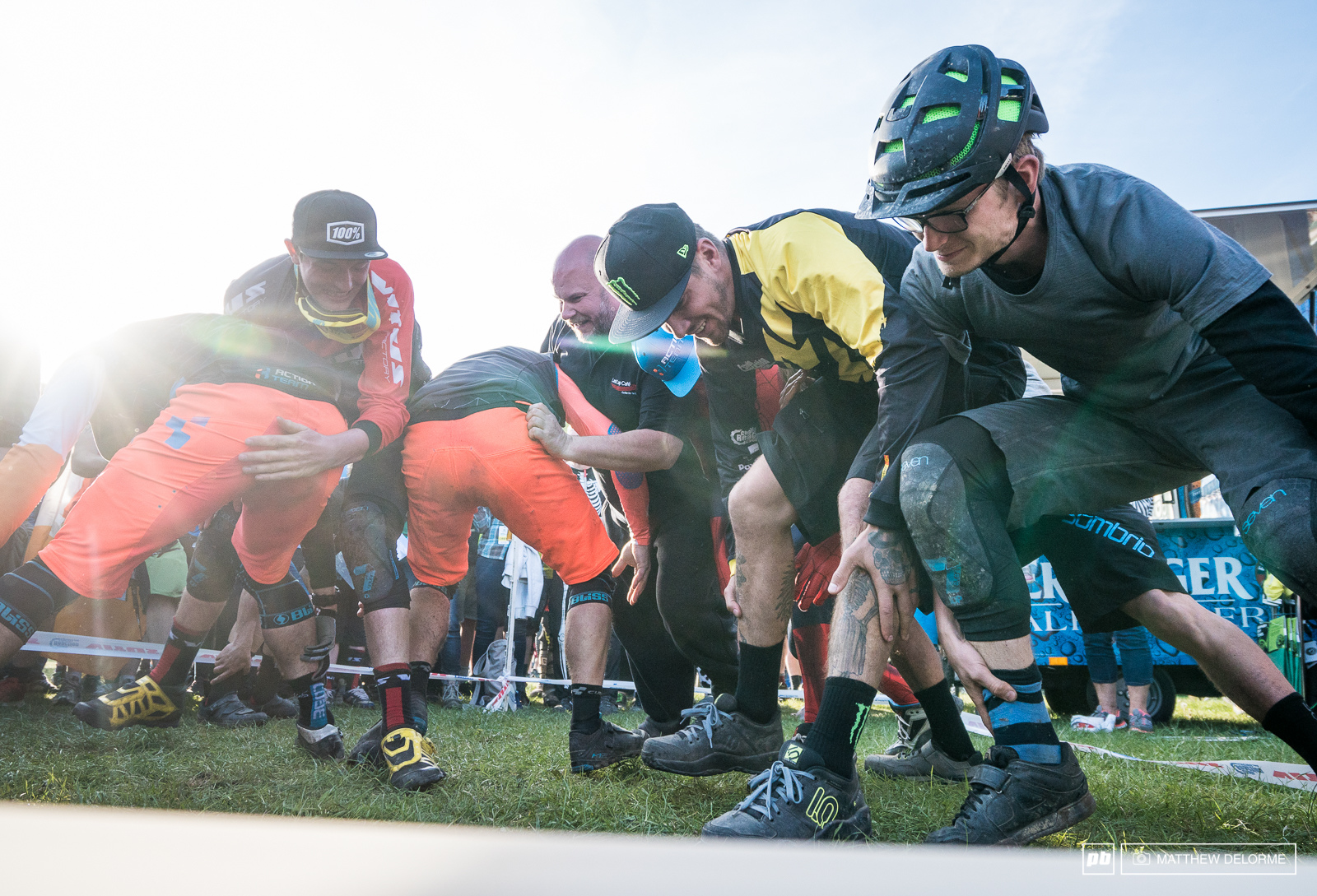 The last event. The square circle of doom ankle fighting thing. Sam Hill and Duncan Philpott battle it out whilst two men in the back ground clearly break the rules. If there really are rules.