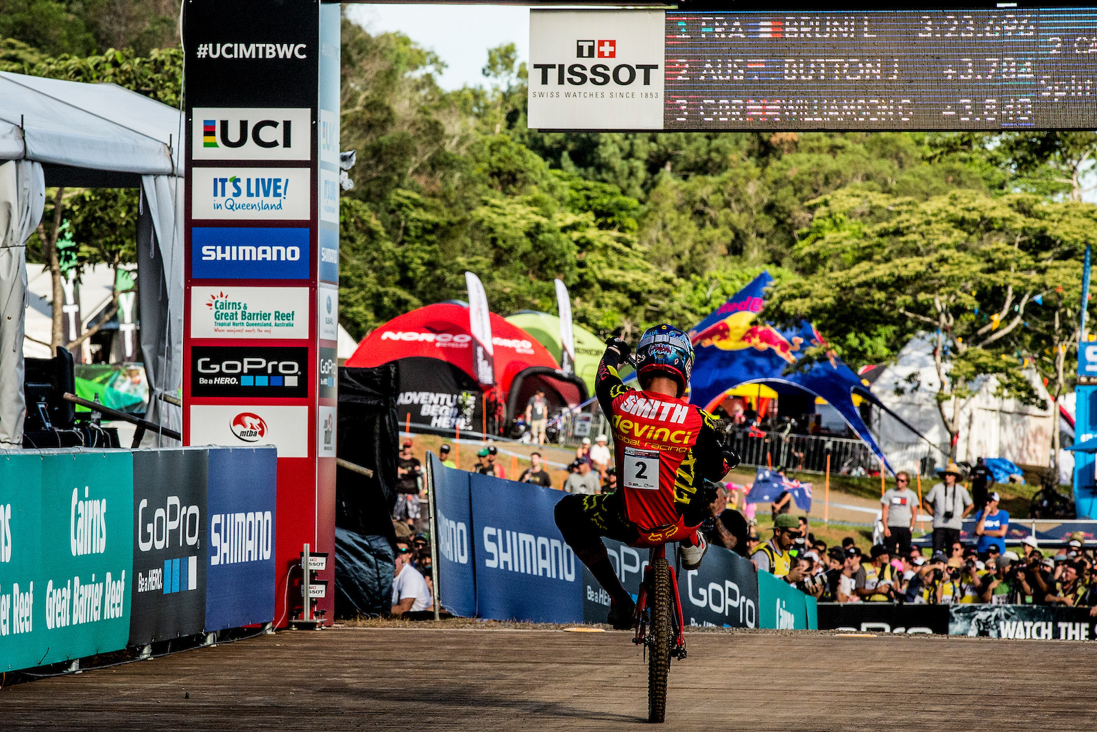 during the 2016 UCI MTB World Cup round two Cairns Australia. Photo Sven Martin
