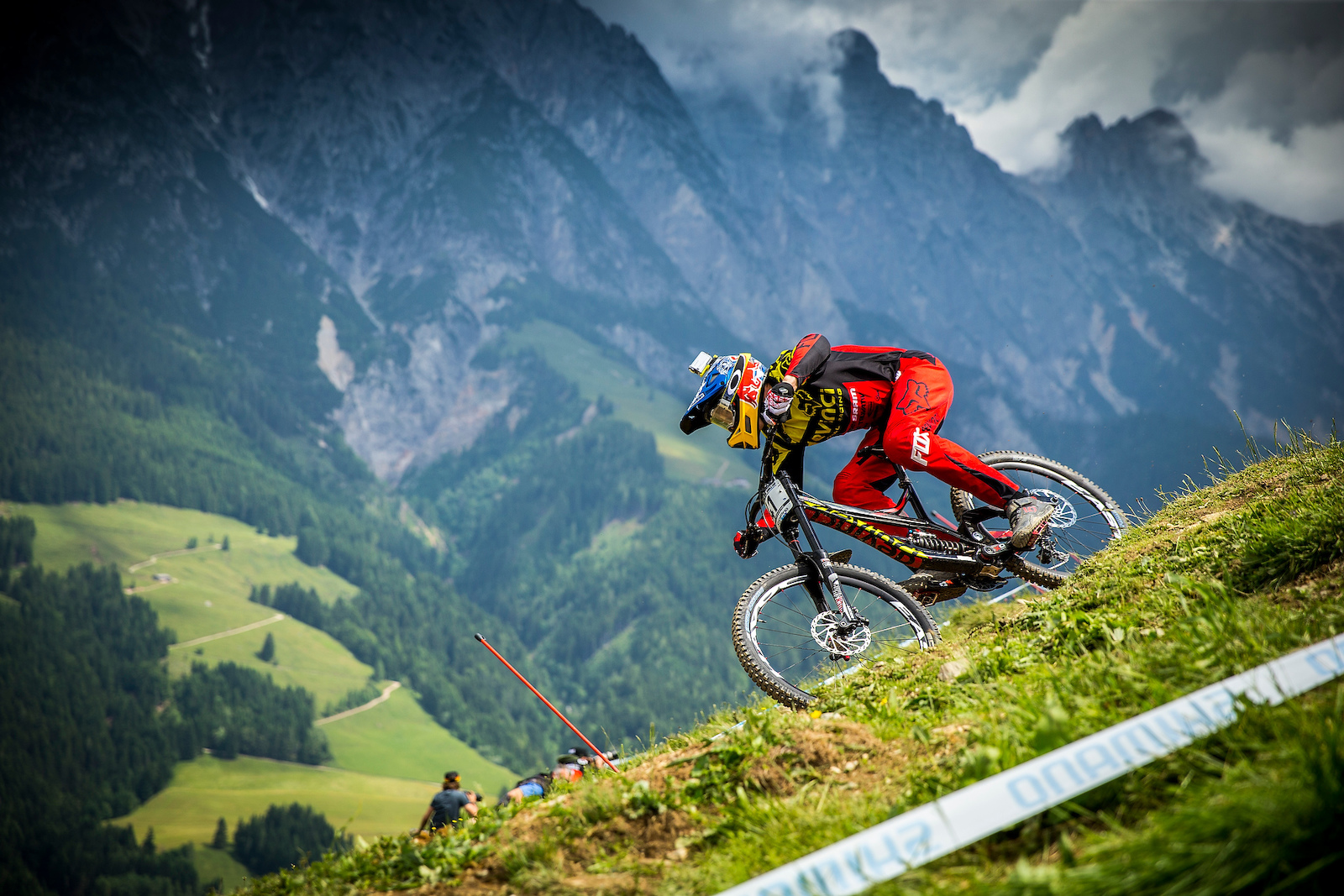 during the Leogang MTB World Cup Austria. Photo Sven Martin