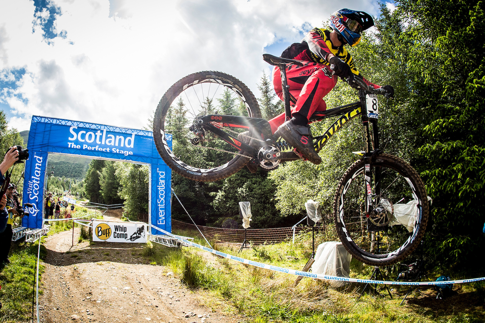 during the Ft William MTB World Cup Scotland. Photo Sven Martin