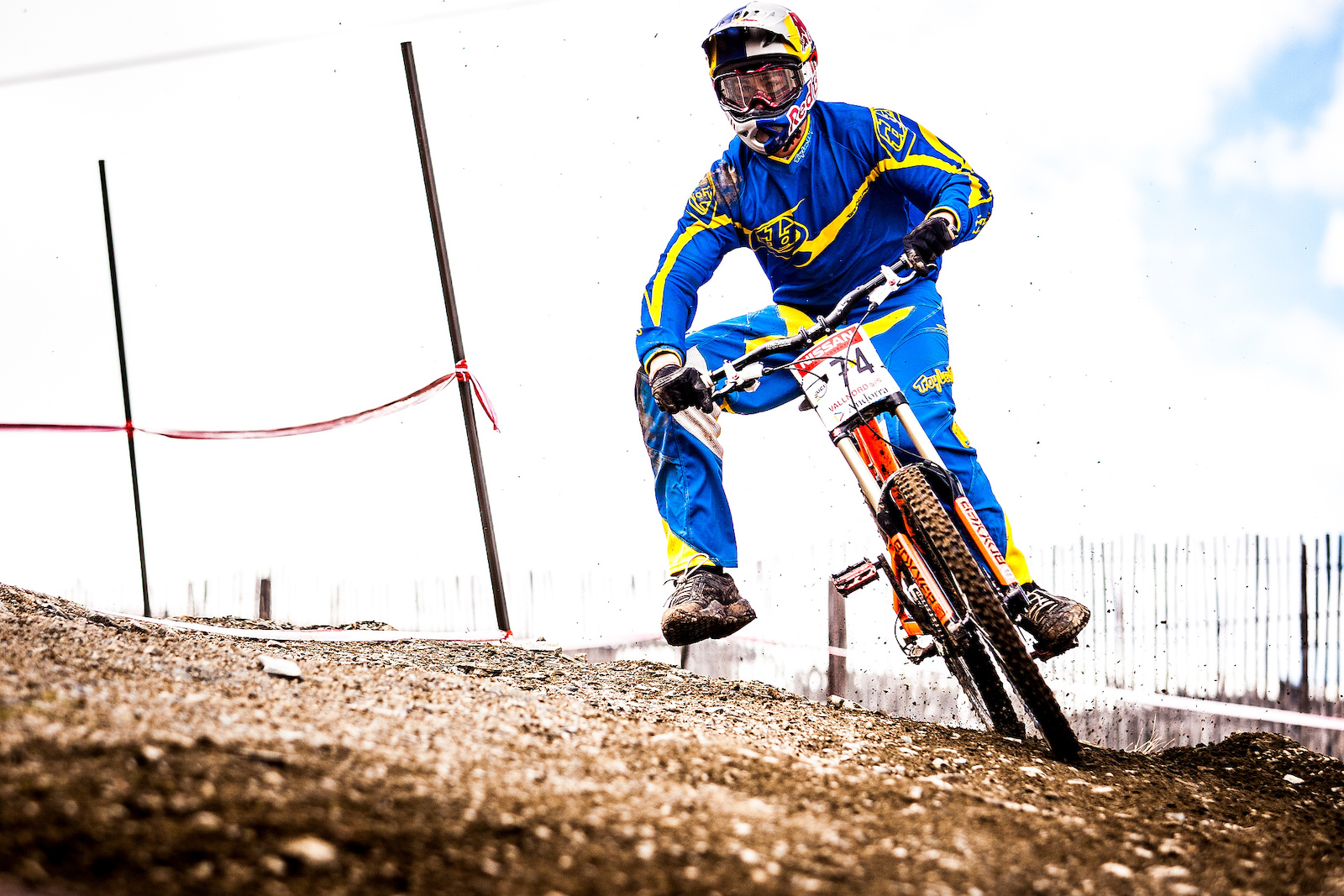 during the Nissan UCI MTB world cup presented by Shimano at Vallnord Andorra. Photo Sven Martin