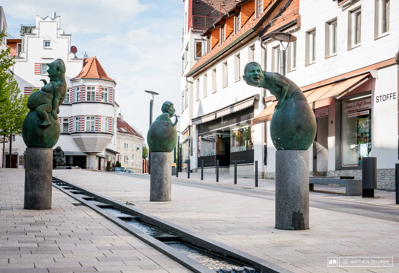 Albstadt has some wonderfully strange art works along it s streets. These are the Baby Men Dinosaur Hatchlings. Not sure on the real name but it close enough for these purposes.