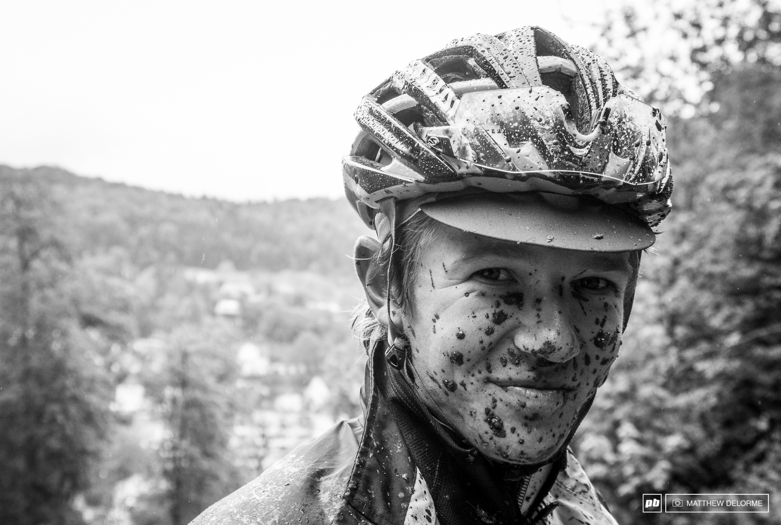 Keegan Swenson with a mud mask any spa service would be envious of.