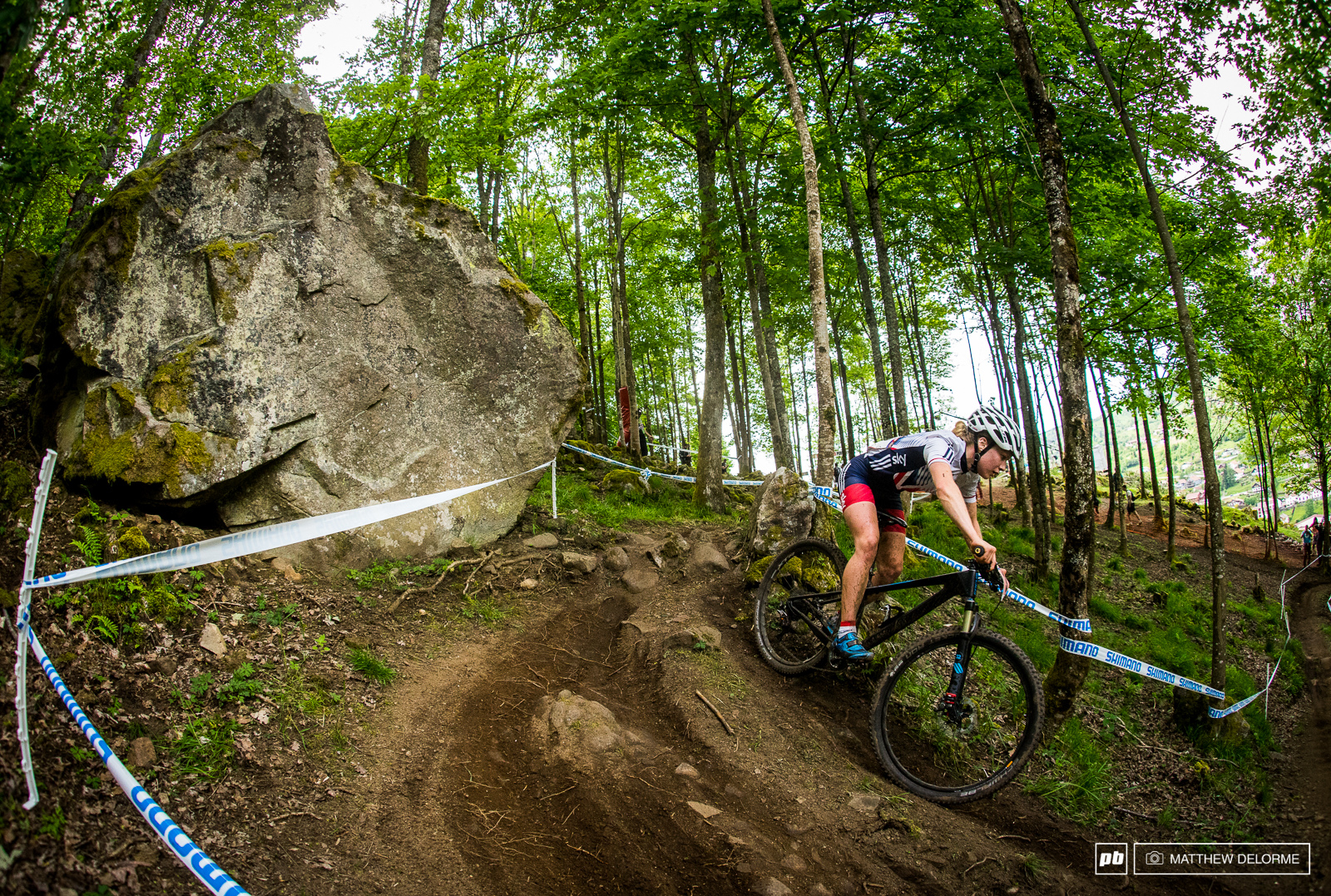 Railing the inside line. The dirt yesterday was sublime.