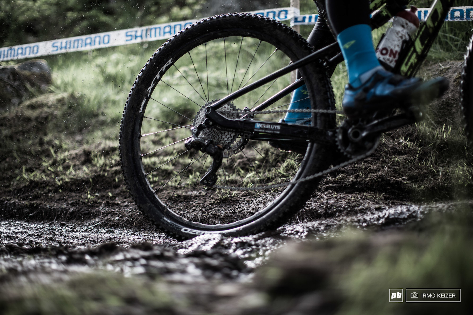 Although the weather remained dry for days the course did not dry up fully. Treacherous trails for riders.