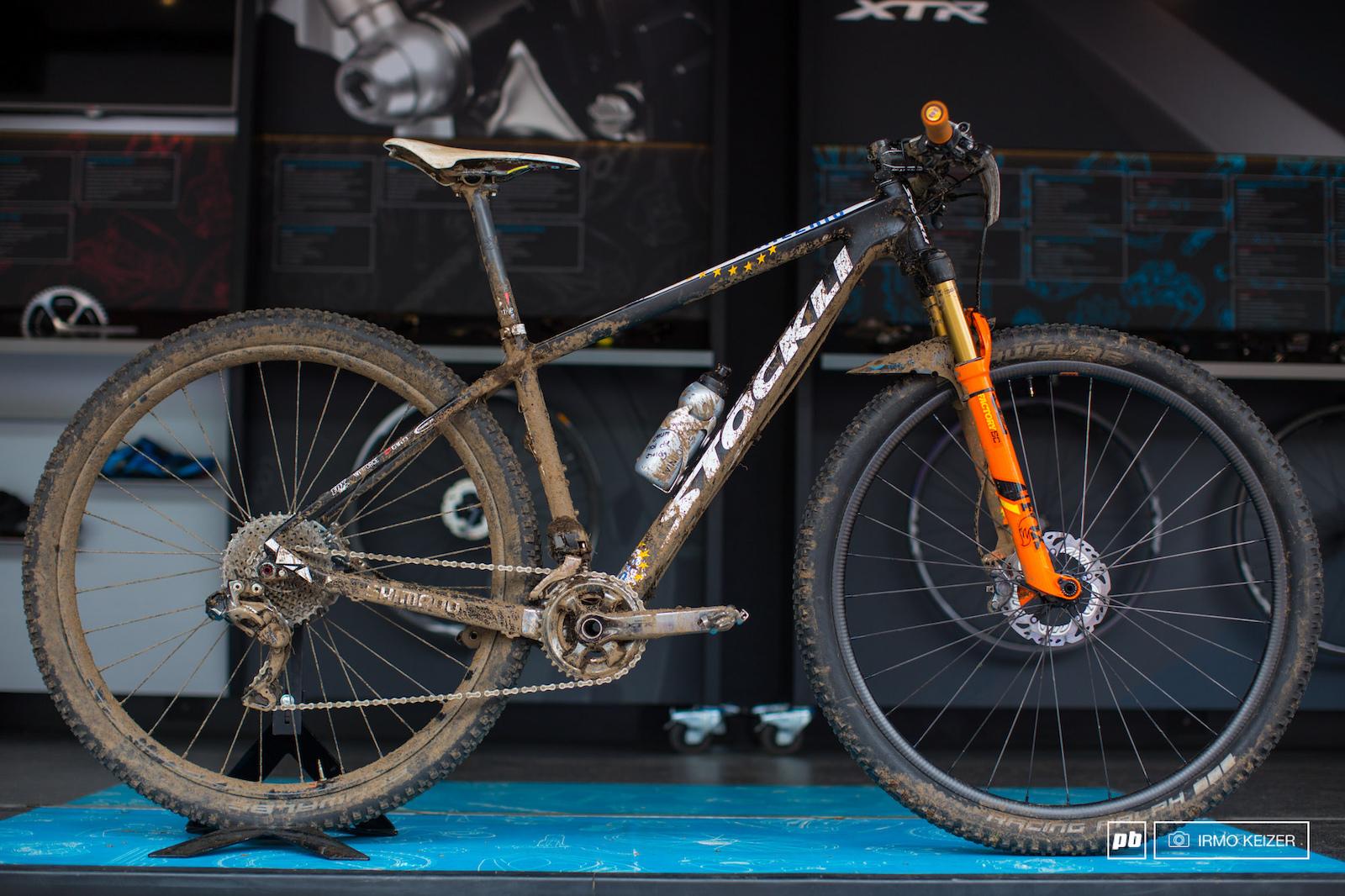 The winning bike in the women s elite race.