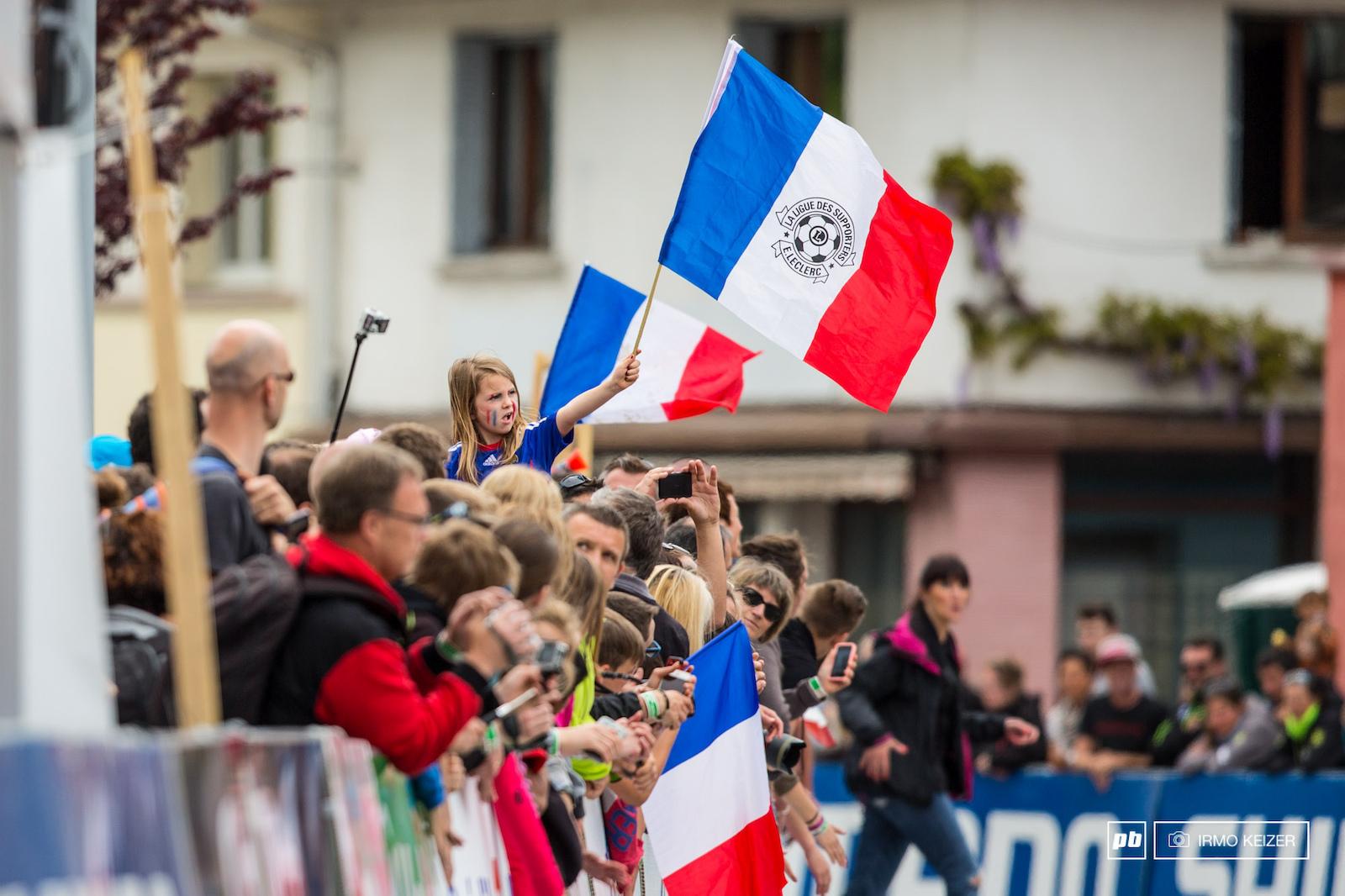 La France c est magnifique. A French podium with Julien Absalon Maxime Marotte and Victor Koretzky.