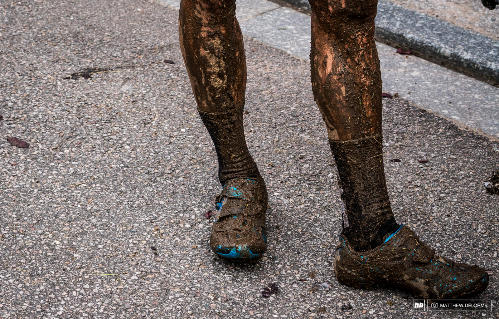 All the legs tat crosses the line had a solid mud coating.