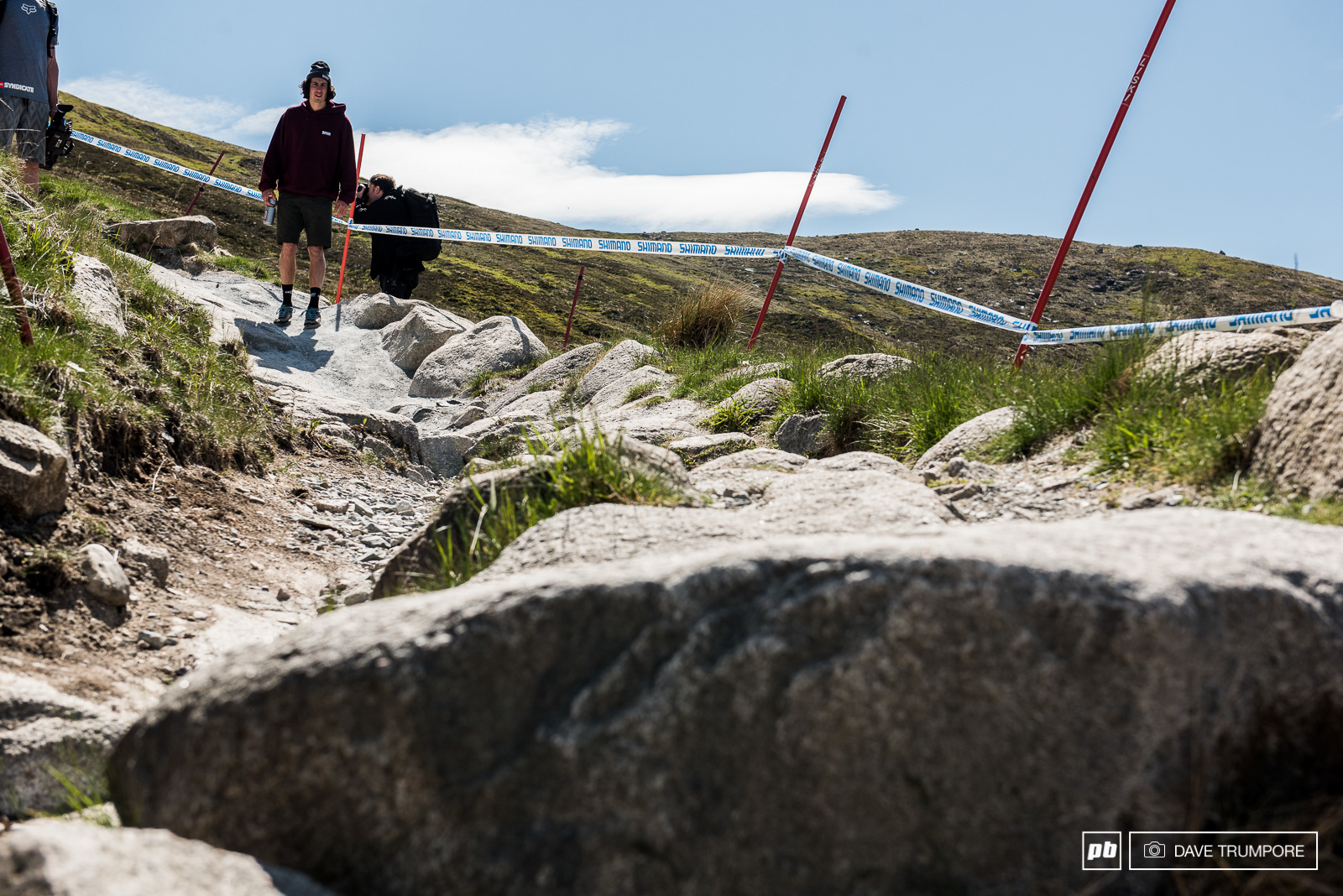 Get off line even by an inch in this high-speed section and you will be in a world of hurt.