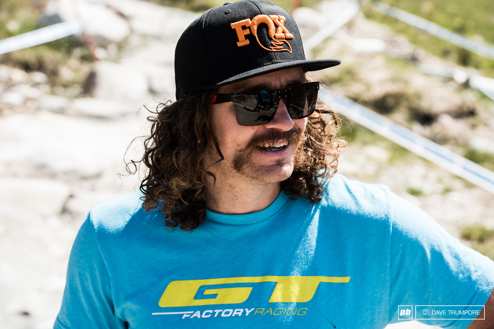 Wyn Masters is one of many riders sporting commemorative facial hair this weekend.