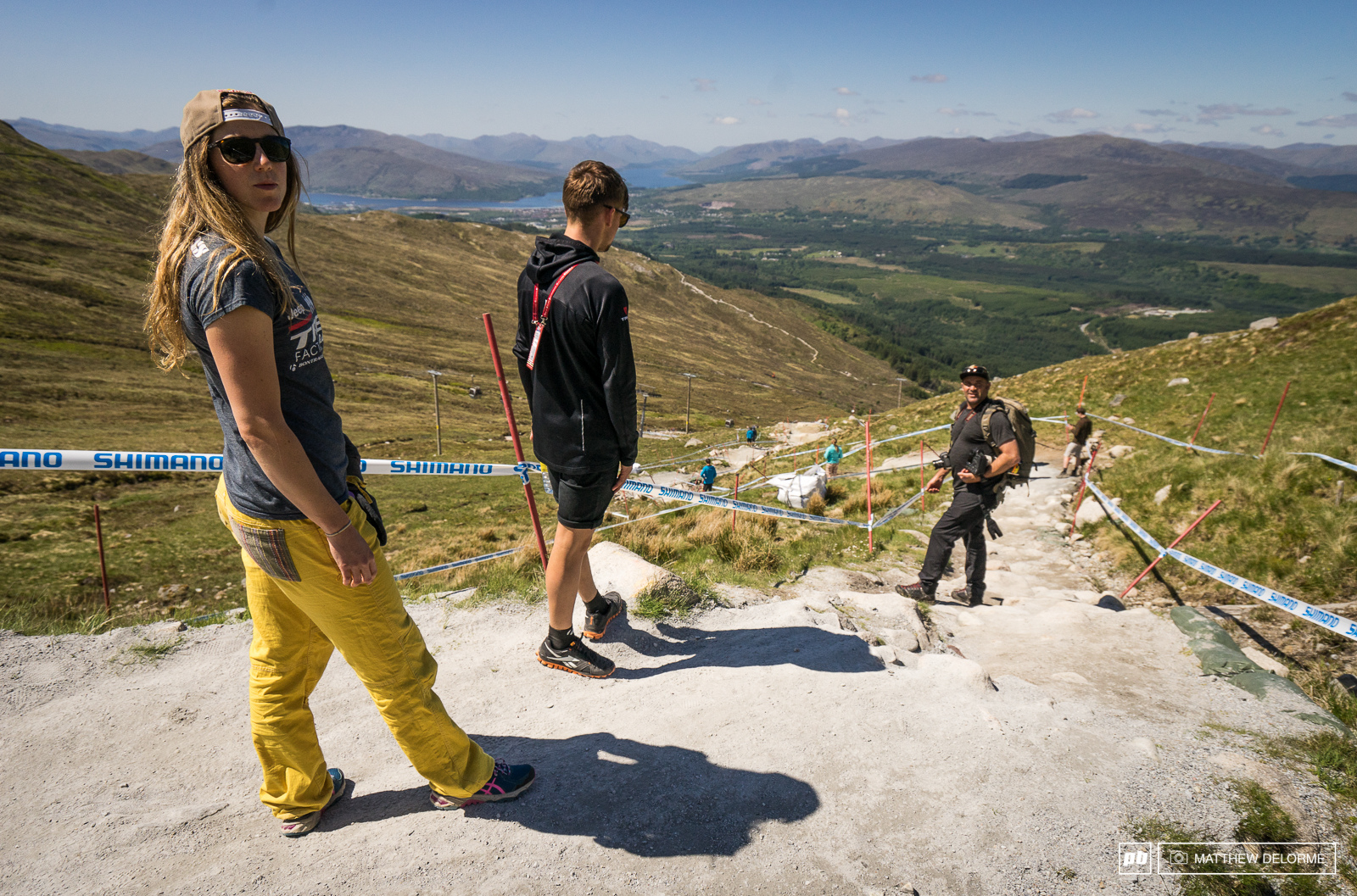 Rachel Atherton takes a look at what will surely be a speedy track this weekend.