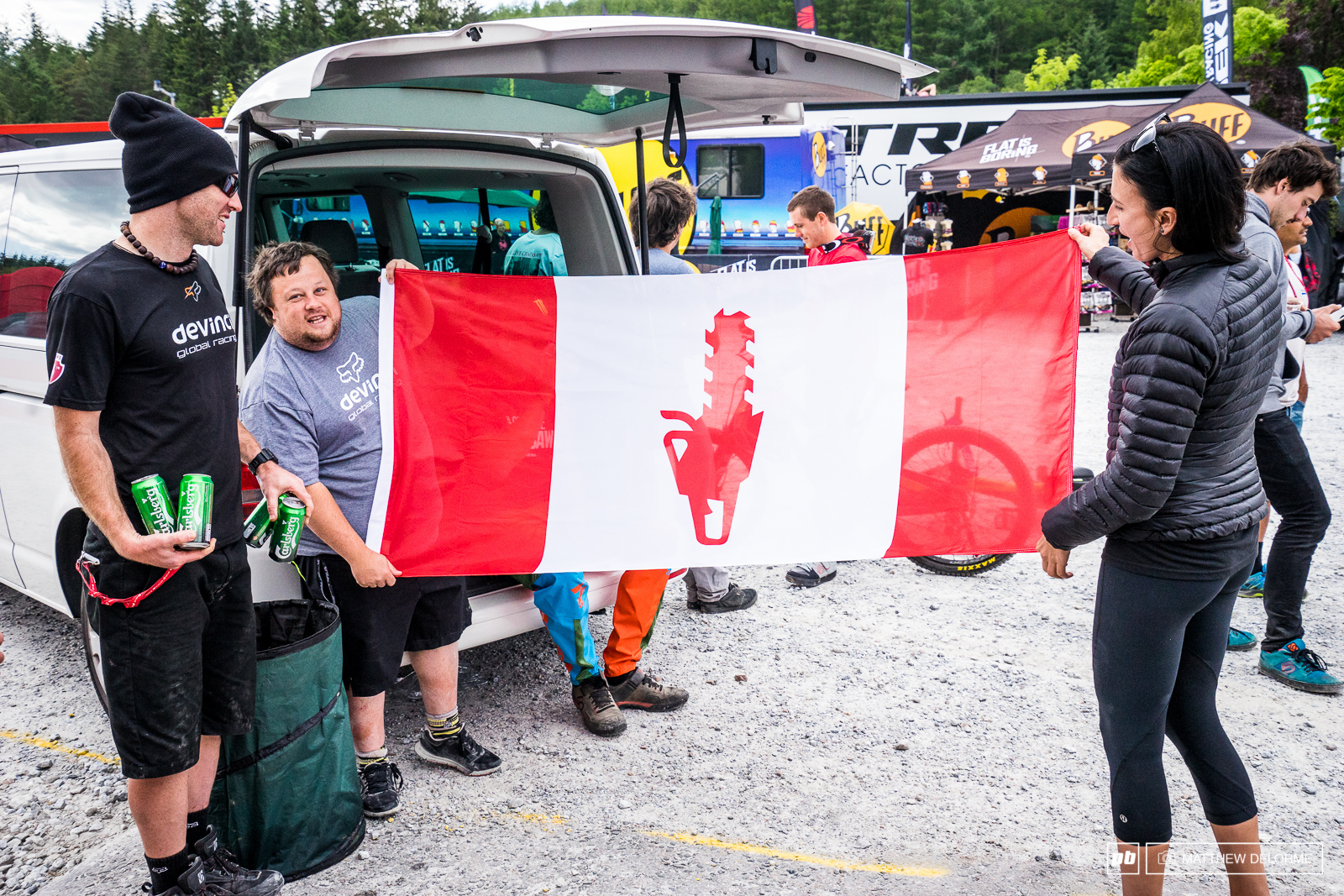 Gabe Fox was more than stoked on this rendition of the Canadian flag.