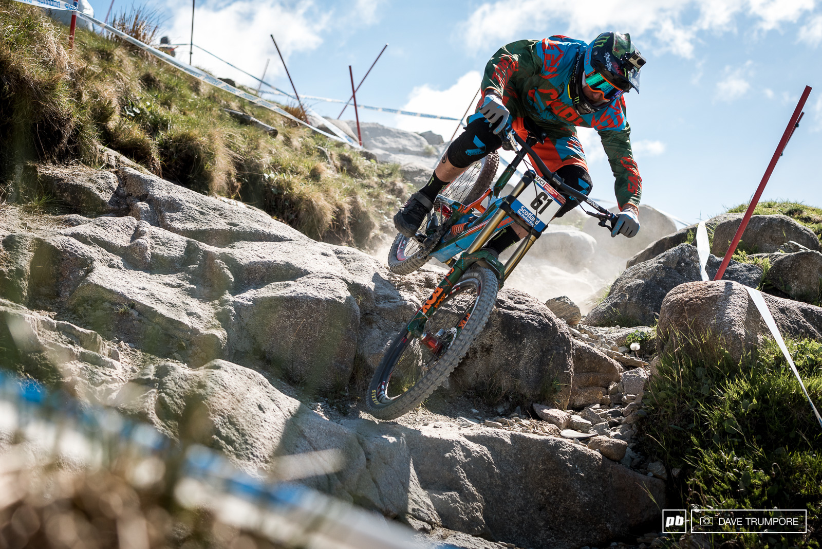 Steve Peat goes full plaid and argyle for his last WC race in Fort William.