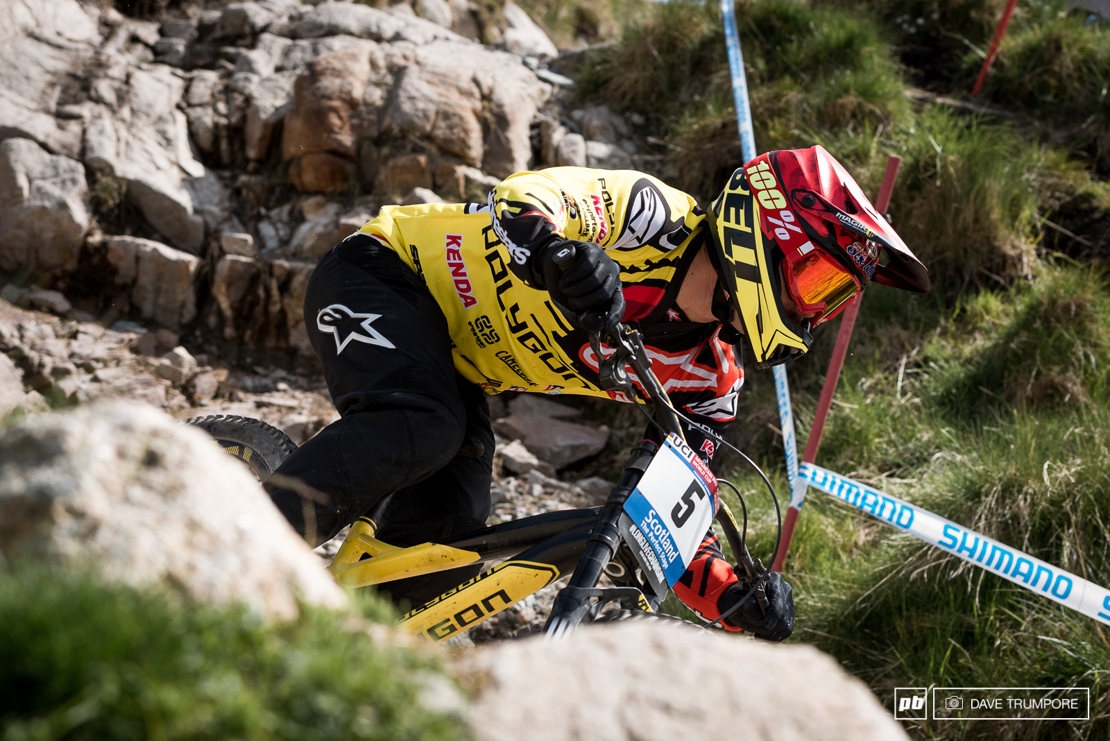 Mick Hannah too a DNF after a massive crash up top but he was uninjured and will line up to duke it out in the final.
