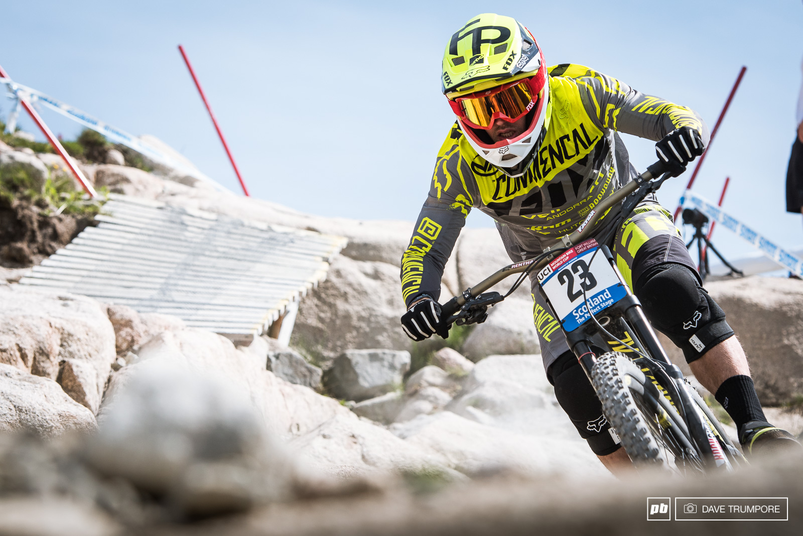 12th for Remi Thirion just a scant six seconds back. With the bone dry track in Fort William this weekend the times are tighter than ever between the top guys.