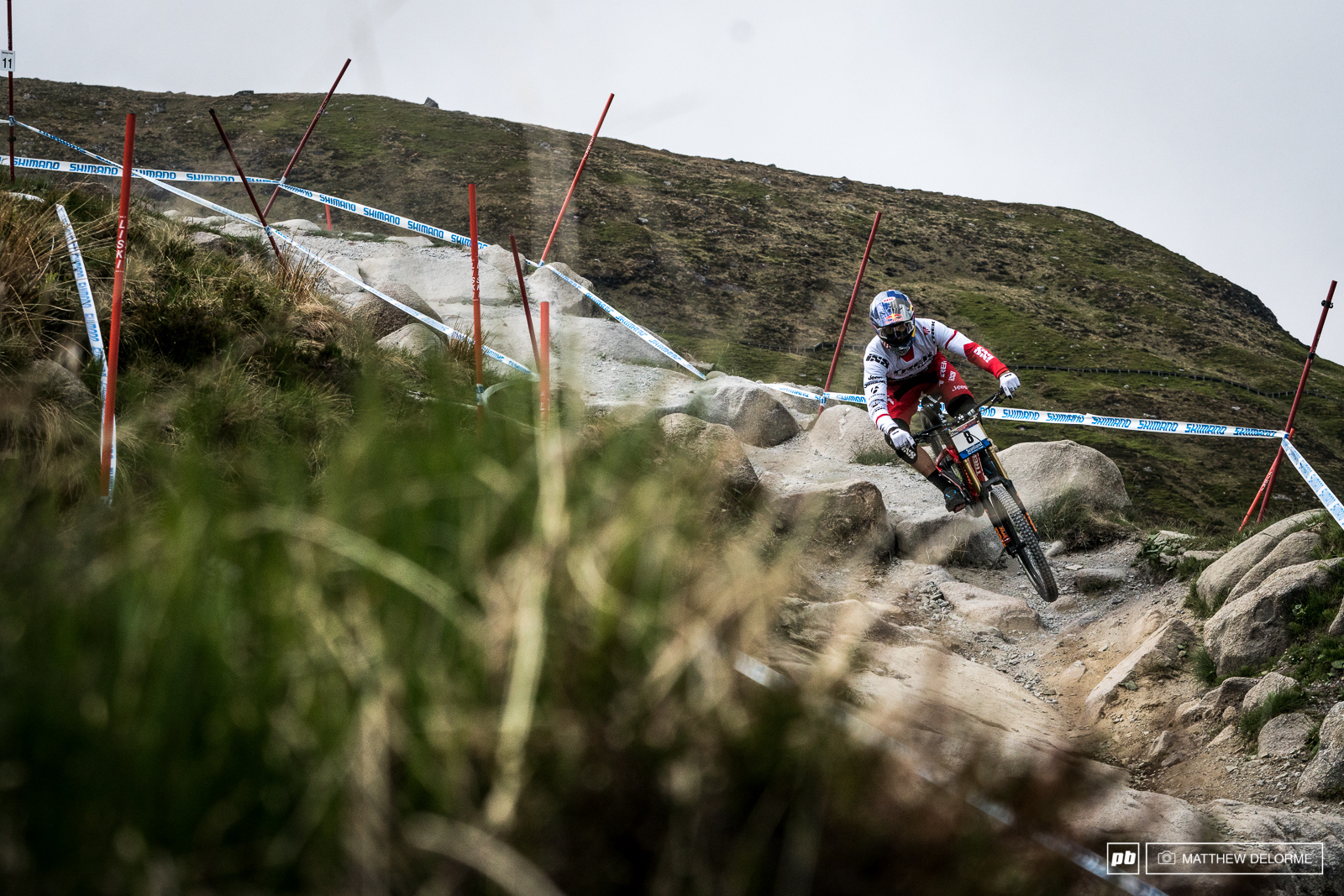 Gee Atherton was fastest in qualifying today. His month of testing and dialing in his bike has started to pay off.