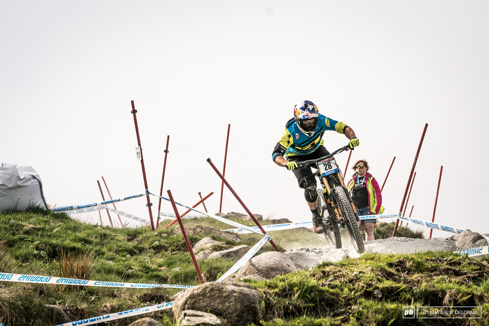 Brook MacDonald has been looking like his old self out there. The bulldog will be gunning for another Fort William podium tomorrow.