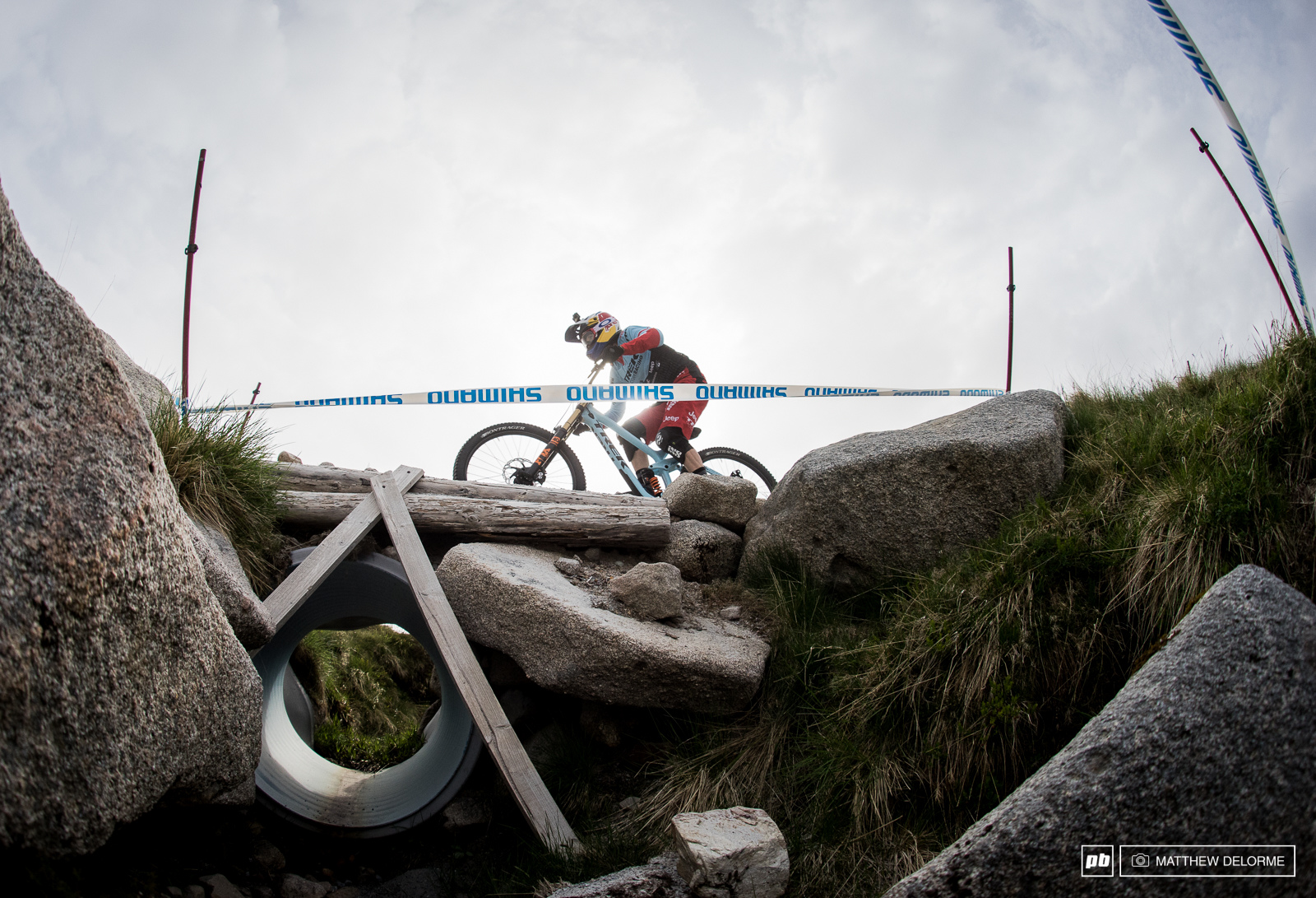 Rachel Atherton had a crash on her qualie run that landed her back in second.