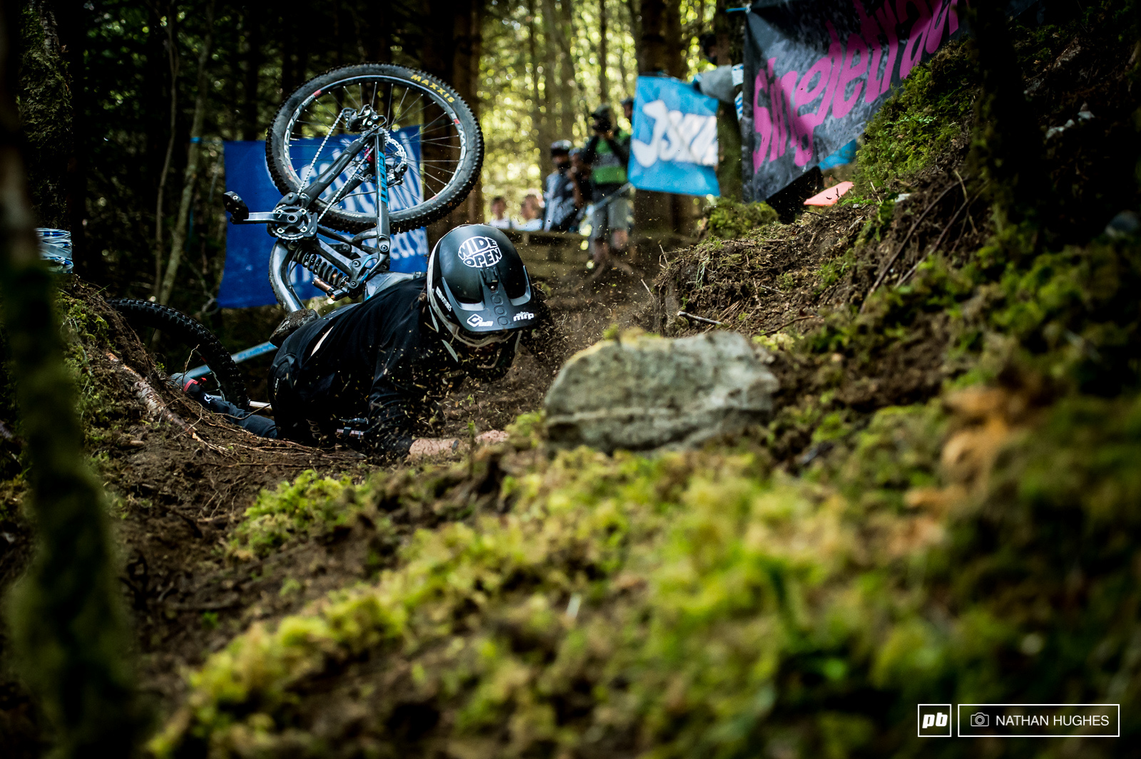 Keegan Wright face down in the brown pow. Second time he nailed. More than can be said for most riders.