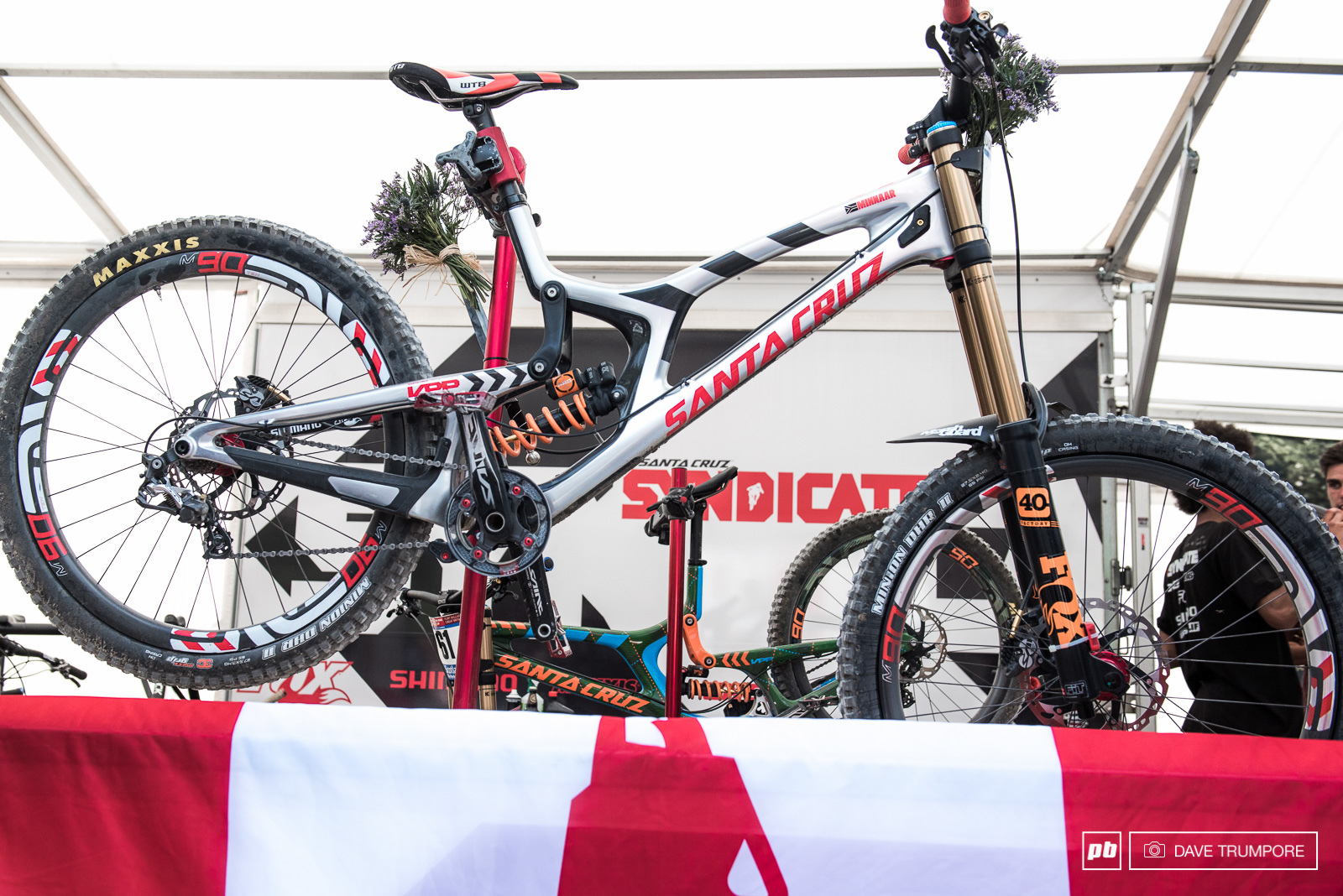Just hanging in the stand Greg Minnaar s V-10 looks fast.