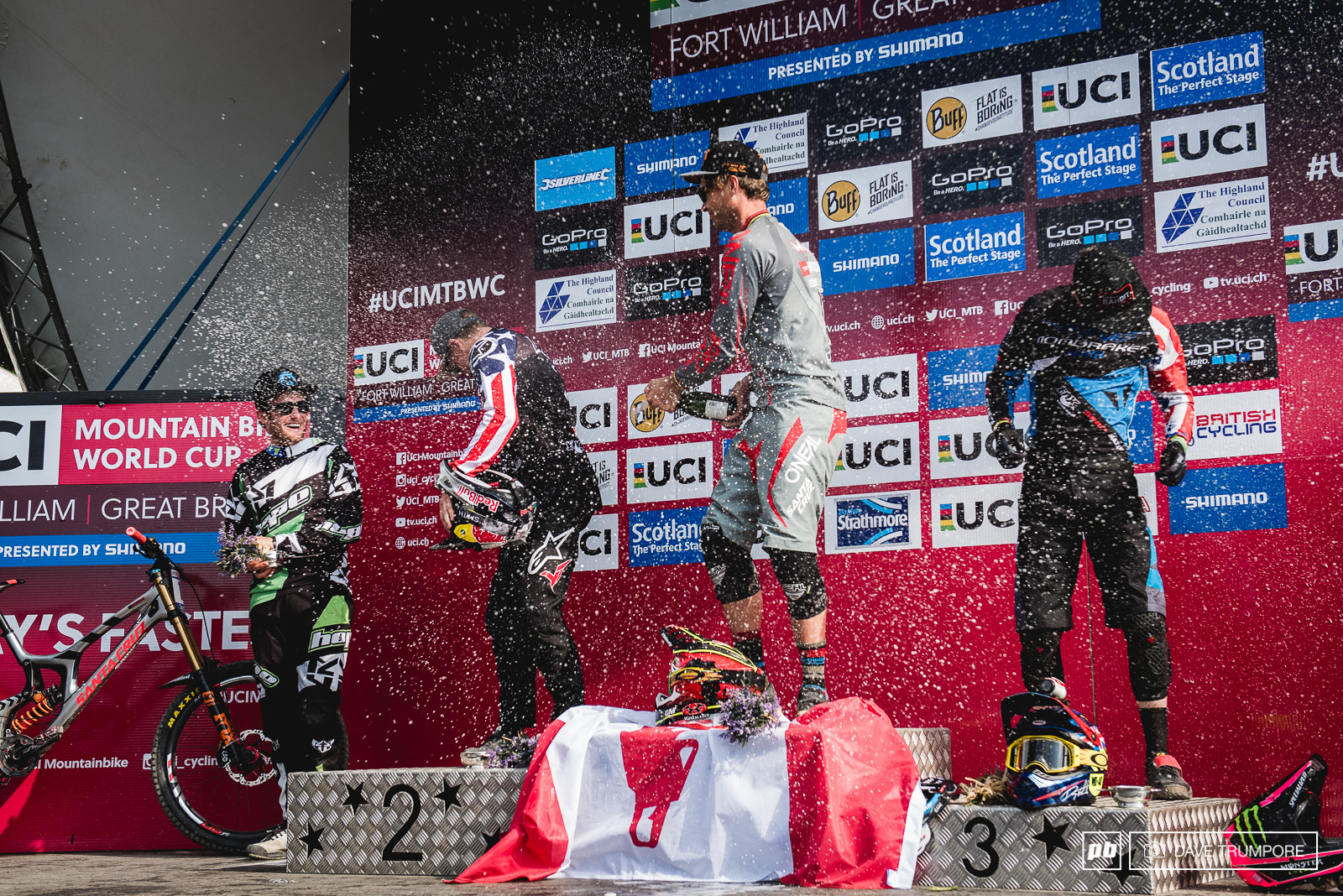 Even Stevie Smith got one more taste of victory champagne today in Fort William.