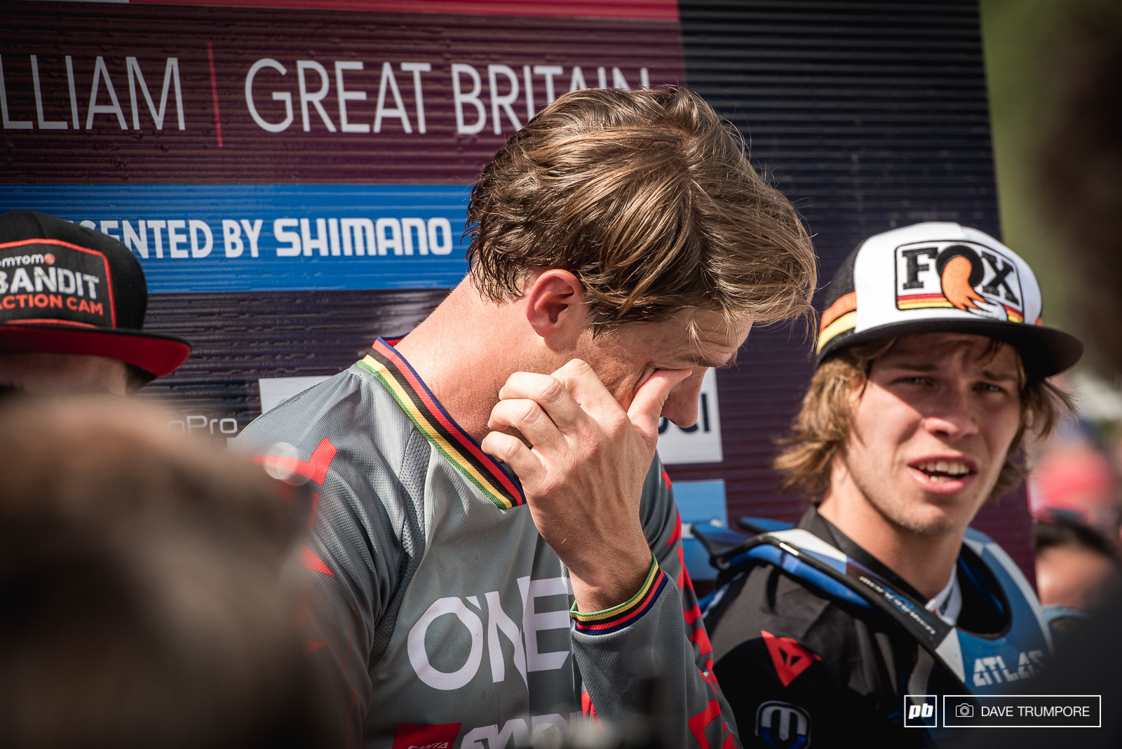 It was emotional few moments for a lot of riders especially those already in the finish arena.