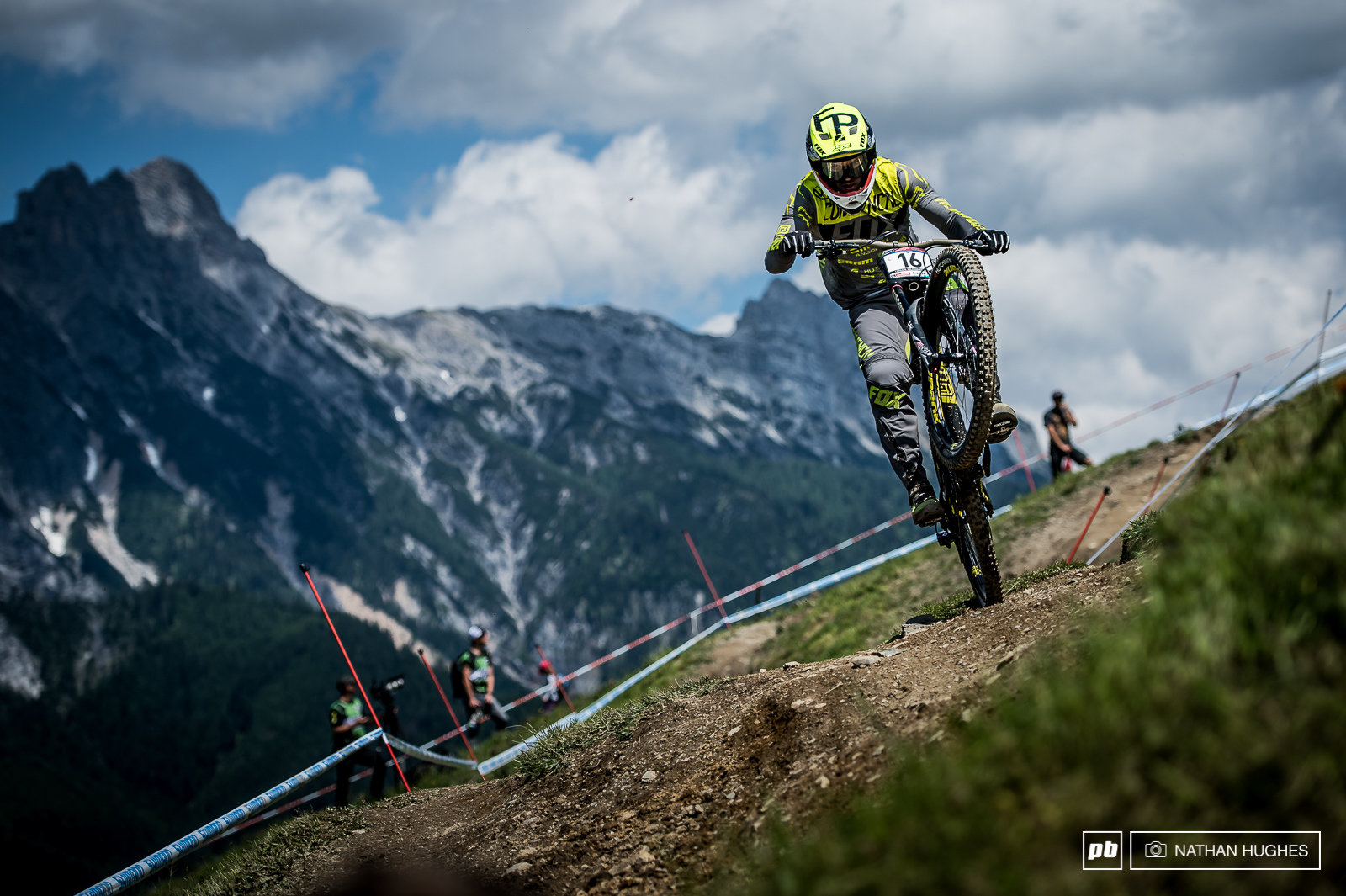 Third place for Remi Thirion here last year second fastest TT this afternoon. The place clearly suits him and you can bet he s ready to tear the Leogang course a new one if it rains.