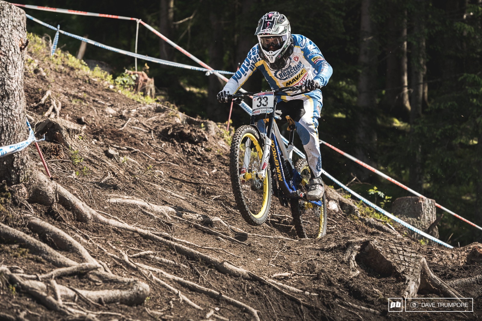 Mike Jones took a massive slam last week at Fort William but somehow he is okay and riding well enough to post one of the fastest times in timed training.