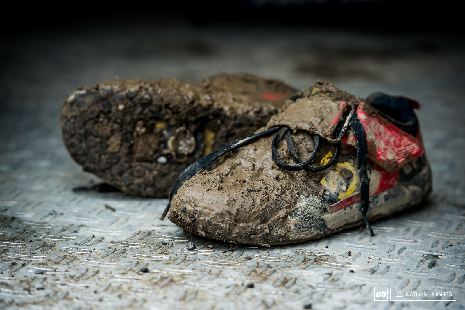 Danny Hart s shoes tell the tale of a day out on the mountain most would rather forgot.